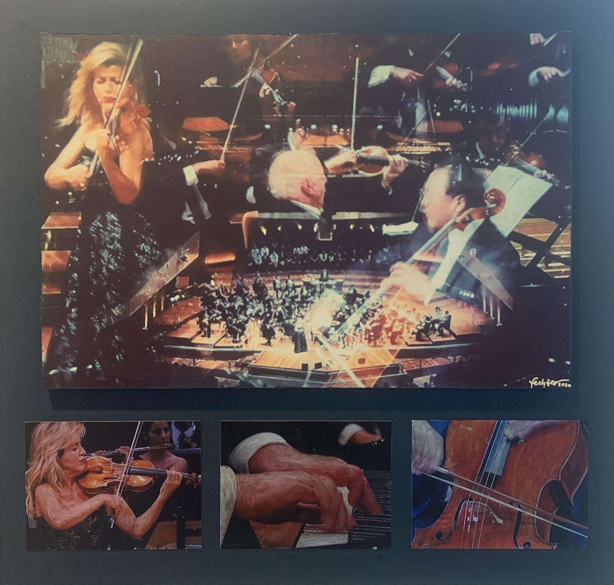 35. Eric E. Fechter, Beethoven 250, Fotografie auf Leinwand mit Fotografien in Ölfarbe, 450 x 470, 2020
