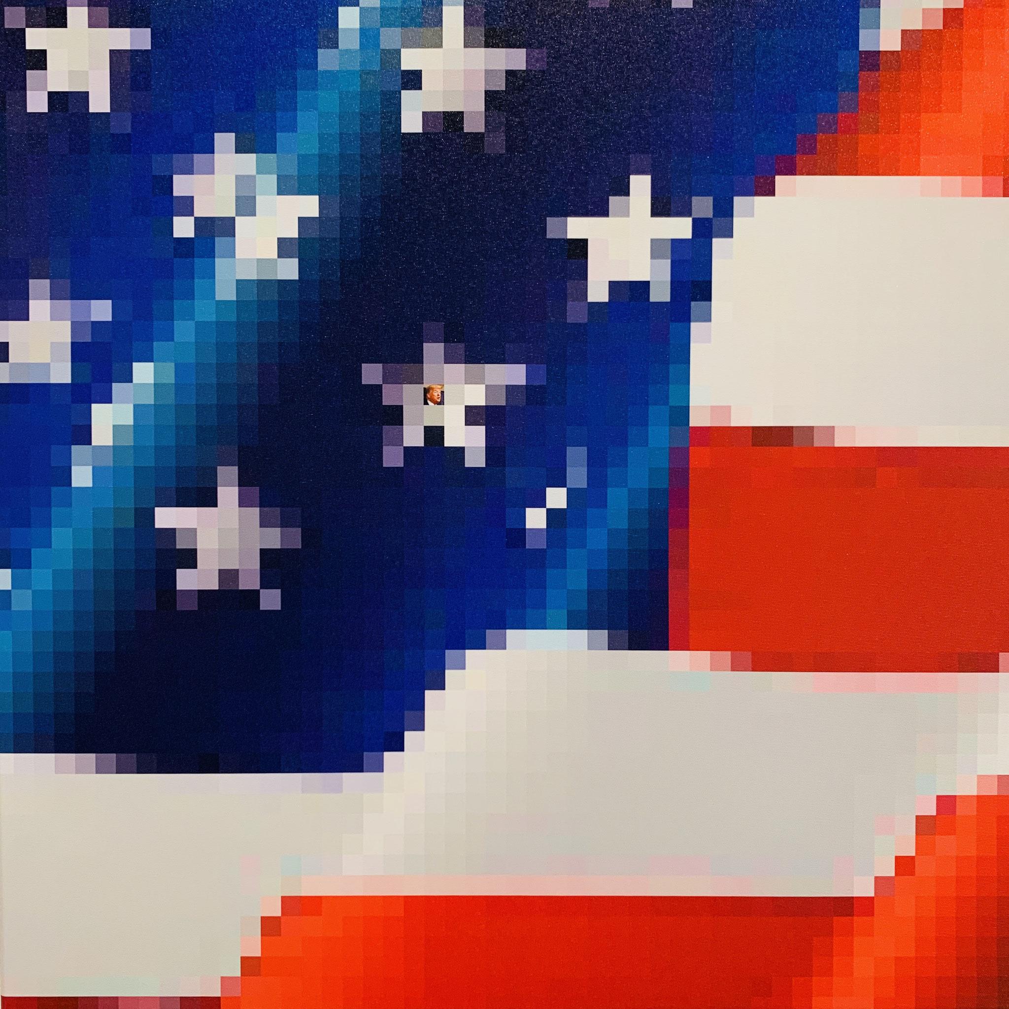 21. Klaus Ritt, Make Amerika great again, Digitaldruck auf Leinwand, 600 x 600, 2020, Preis auf Anfrage