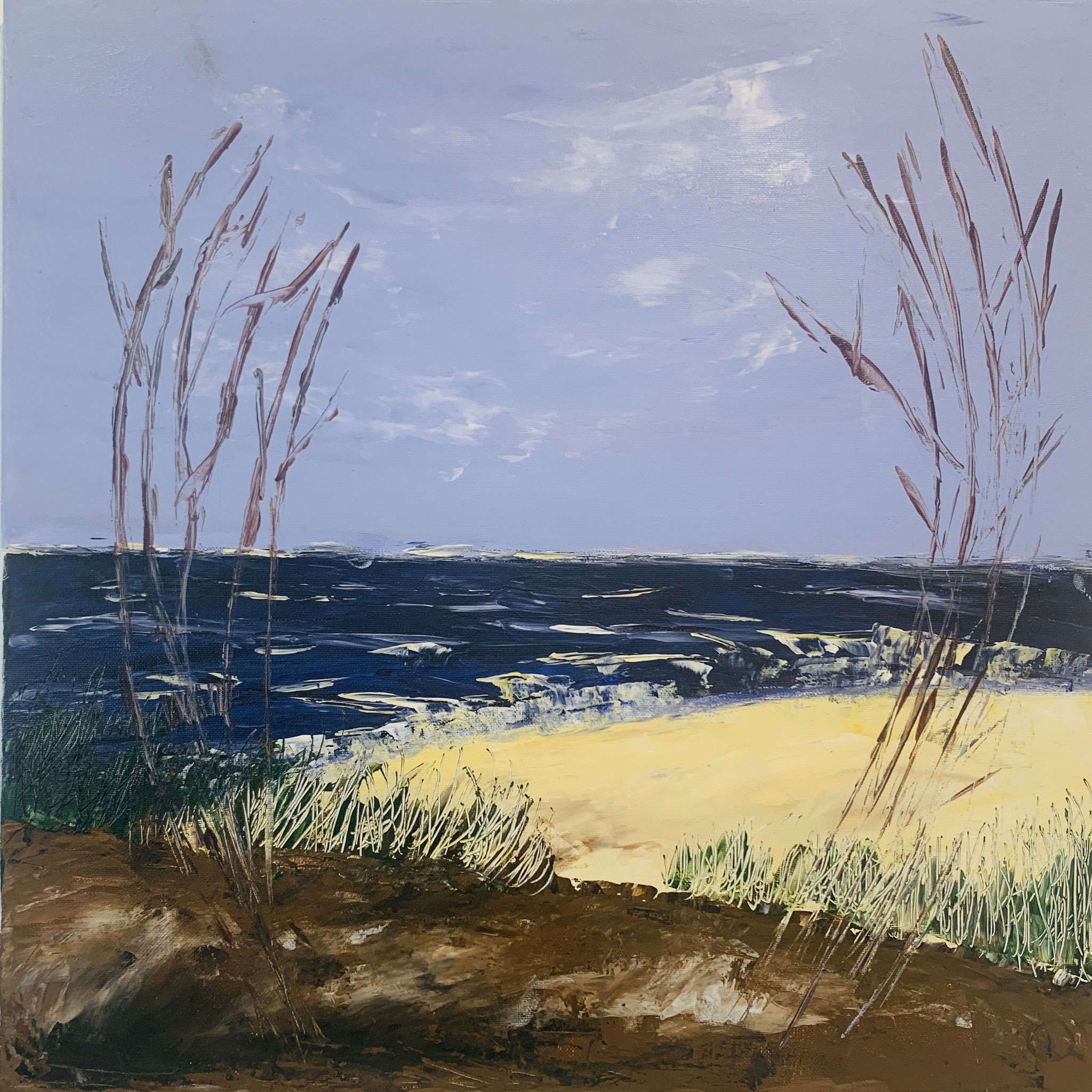 41. Doris Münch, Meer Strand Bucht, Acryl, 2019