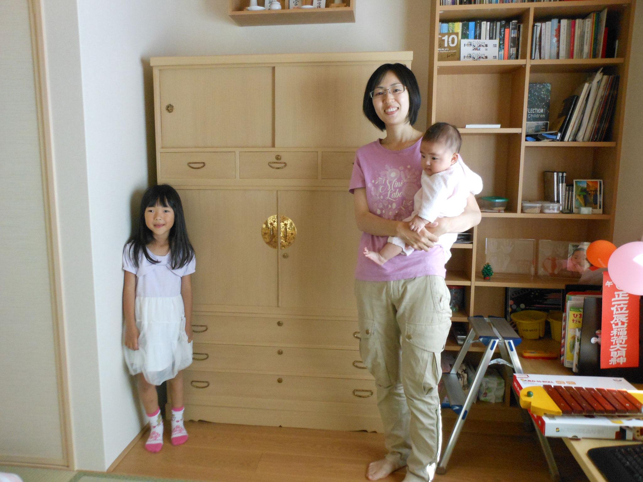 岐阜市より修理依頼の桐たんすを納品してきました。