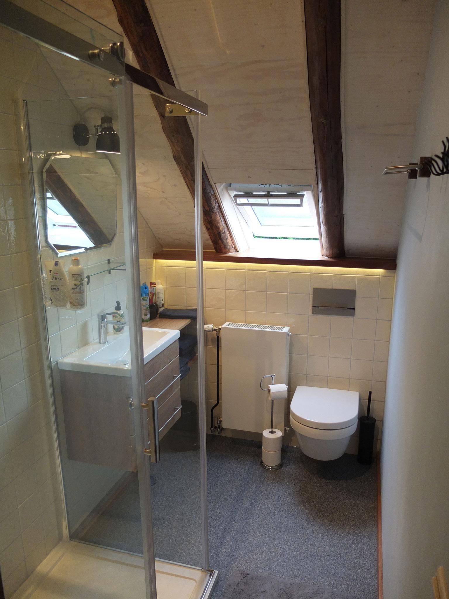 Privé-badkamer met ruime regendouche