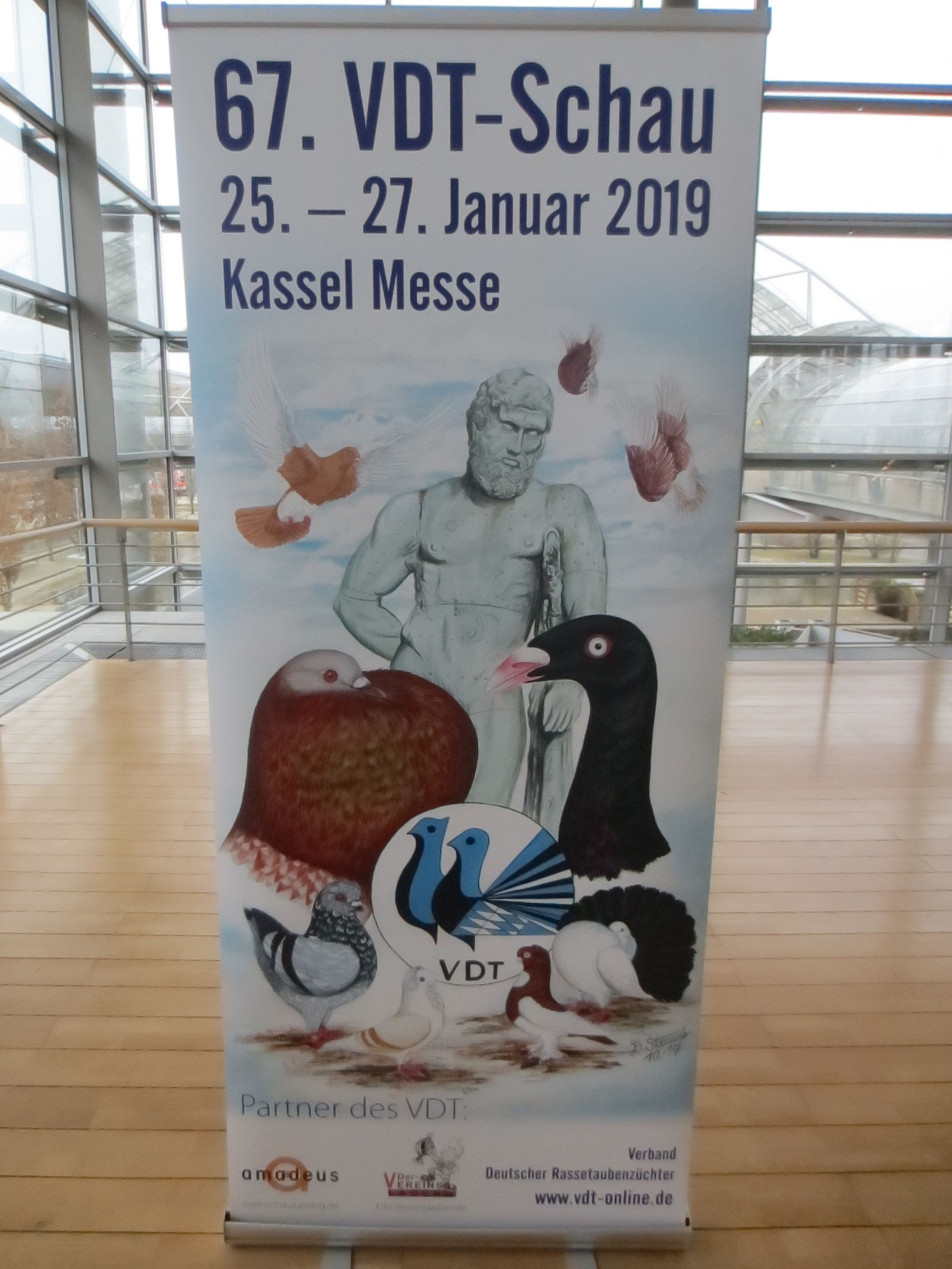 2018 findet die 67. VDT-Schau vom 25. bis 27. Januar 2019 in Kassel-Messe statt.