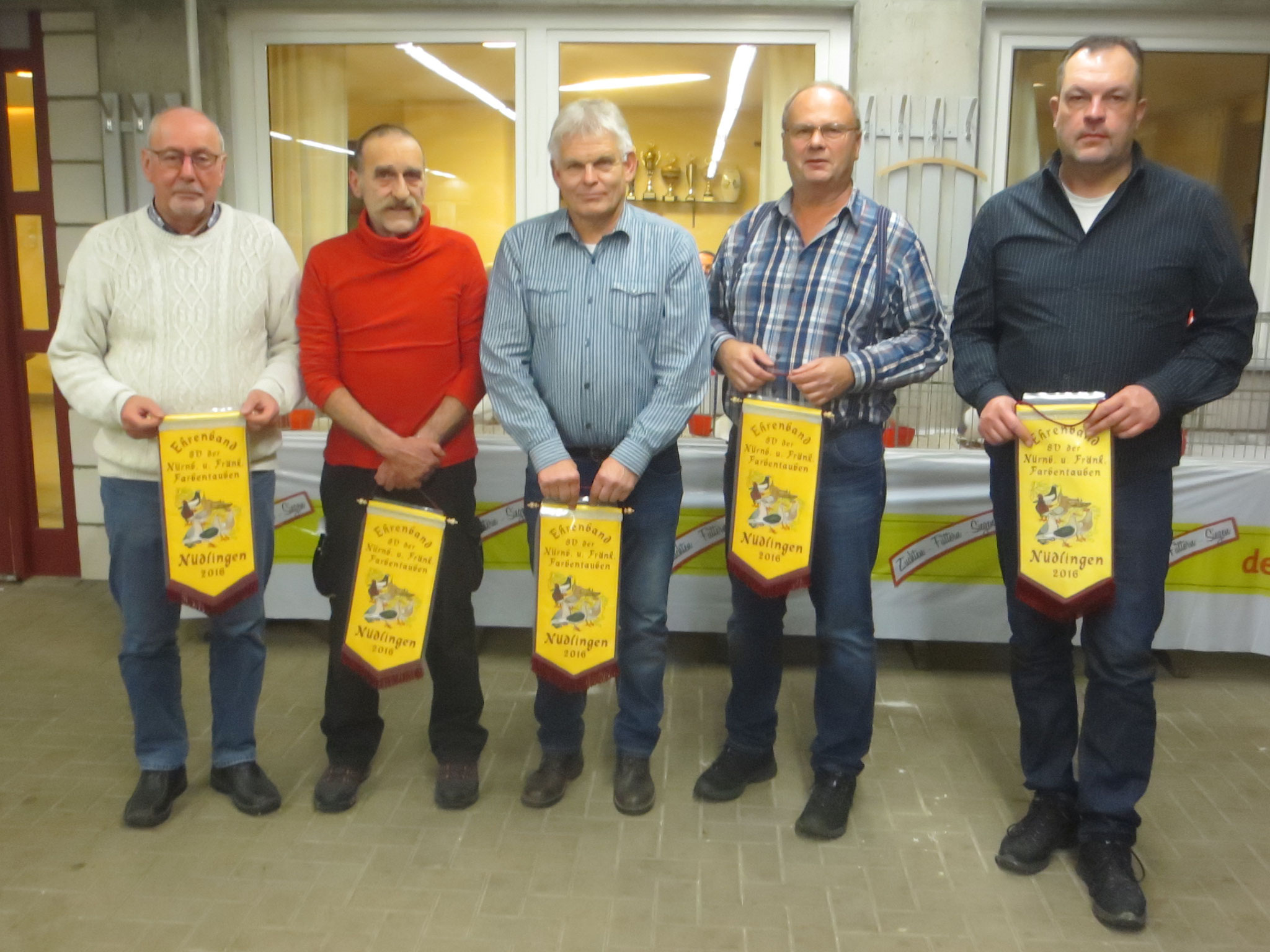 Erringer der SV-Bänder mit Herbert Weber, Friedbert Räder, Wolfgang Wiedmann, Günther Wlotzka und Stefan Rinecker