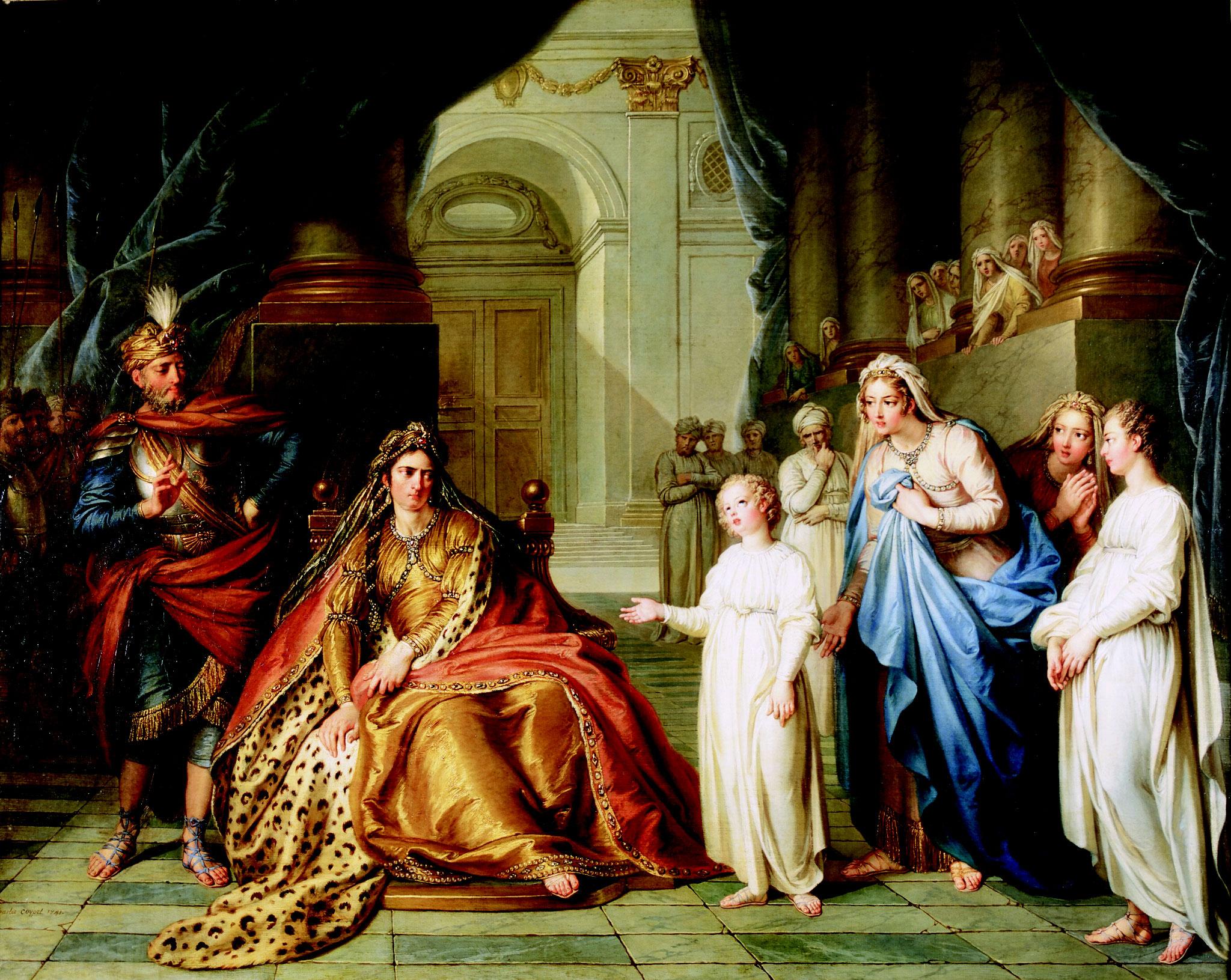 Charles-Antoine Coypel, Athalie interroge Joas, 1741, huile sur toile, collection musée des beaux-arts de Brest métropole.