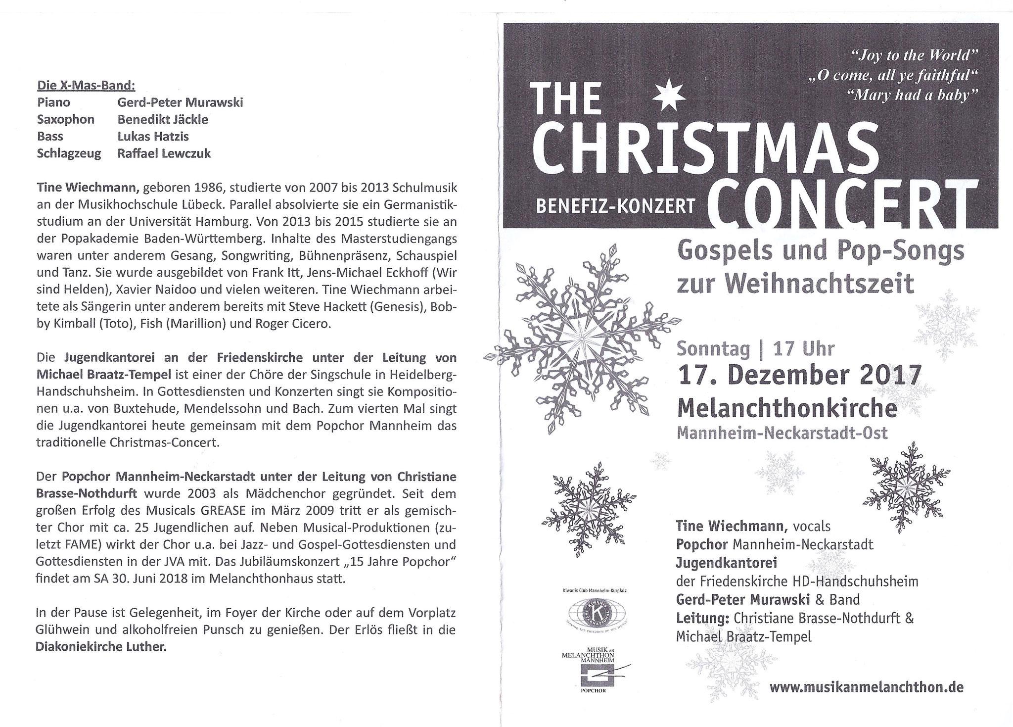 Programmheft Christmas Concert 2017