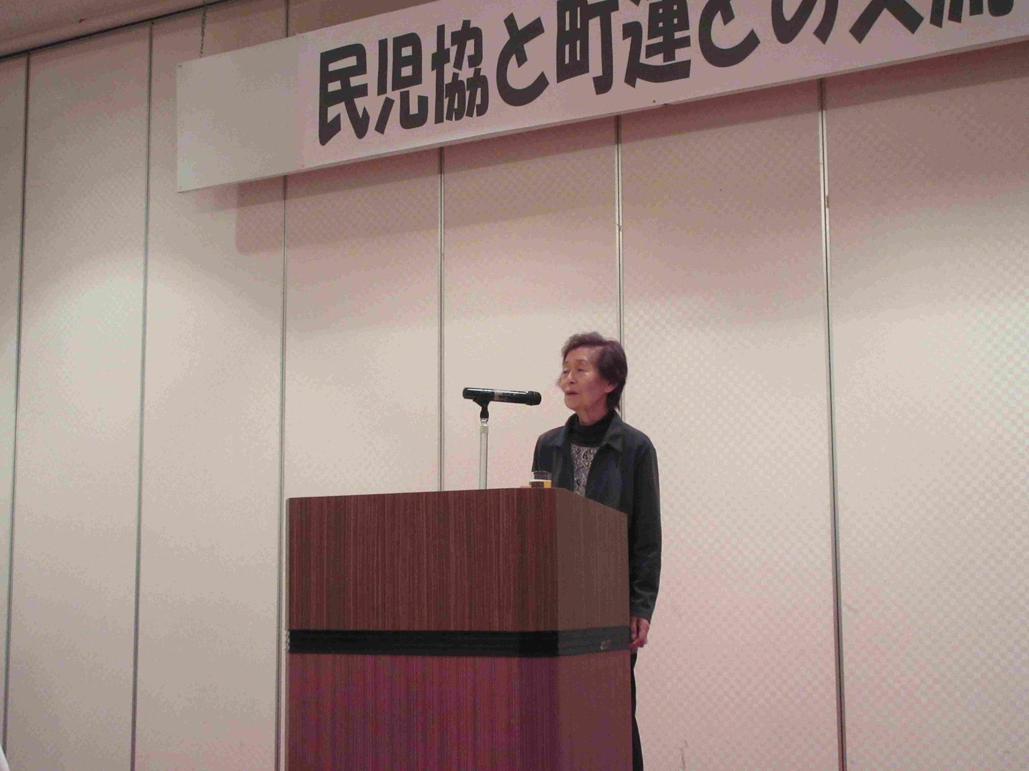 懇親会の乾杯する民児協 松田副会長