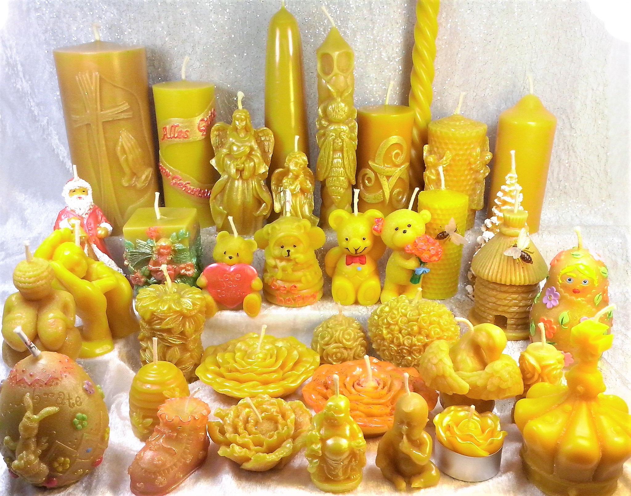 ausgefallene Bienenwachs-Kerzen