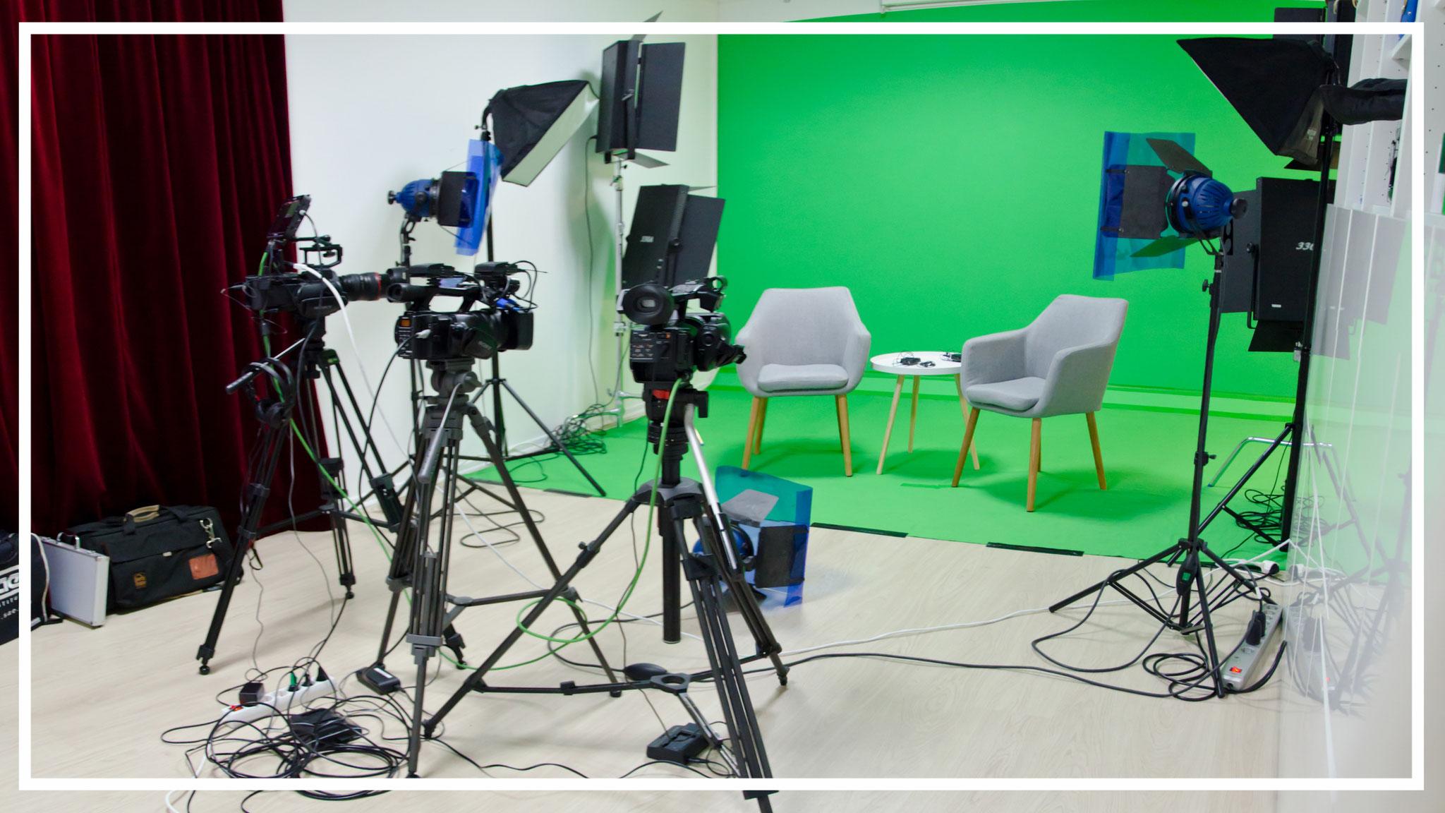 Videostudio in Leipzig: Greenscreen-Produktionen und Studiomiete