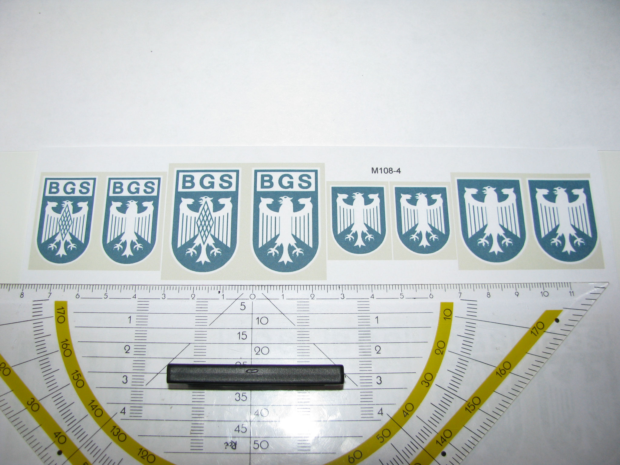 M108-4: BGS. 6 Decals. Max 28x43mm