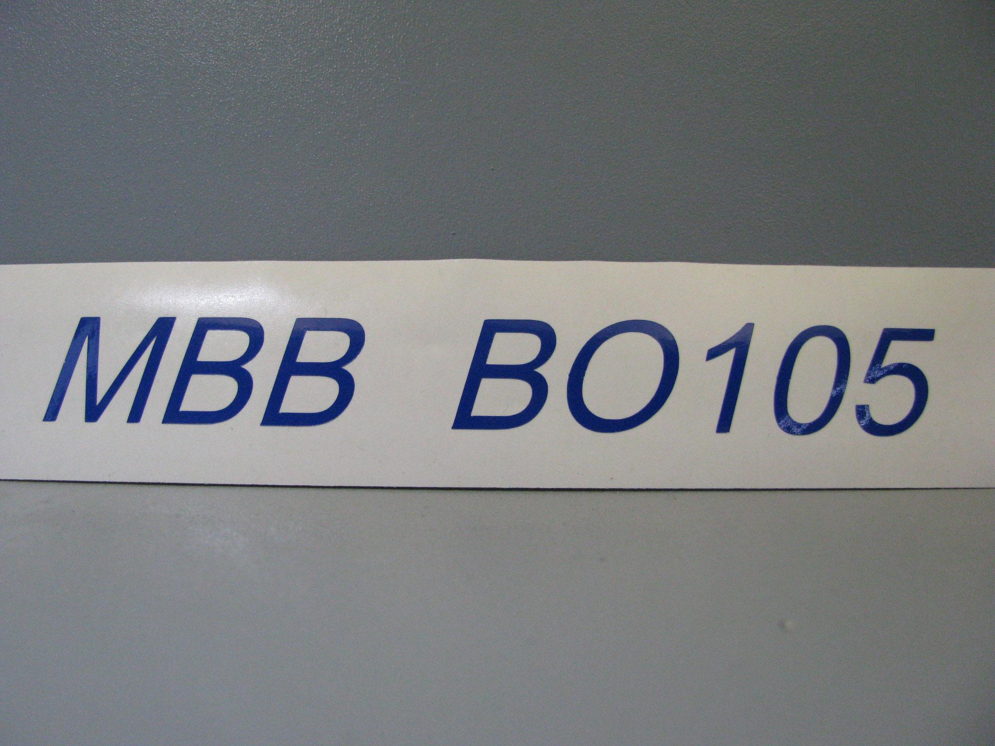 M310: MBB BO105, kursiv, z.B. 40x5mm oder 150x18mm
