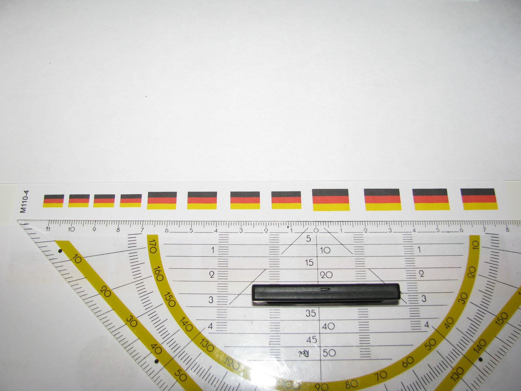 M110-4: BRD Flagge. 6 Decals. Max 15x10mm