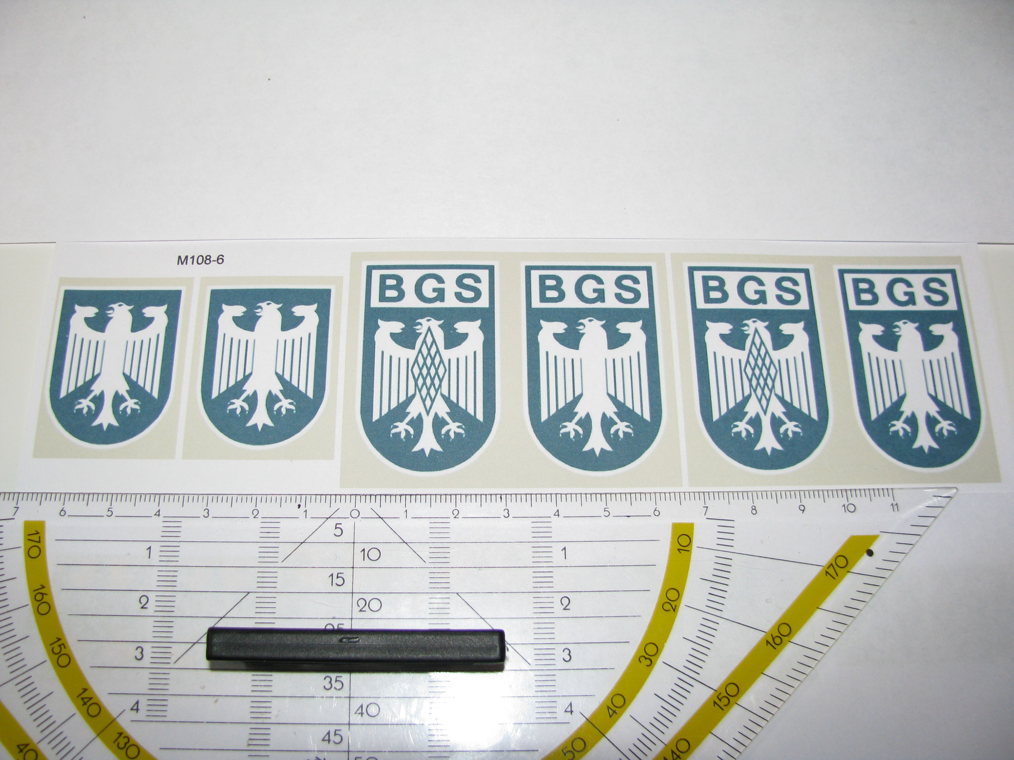 M108-6: BGS. 8 Decals. Max 35x53mm