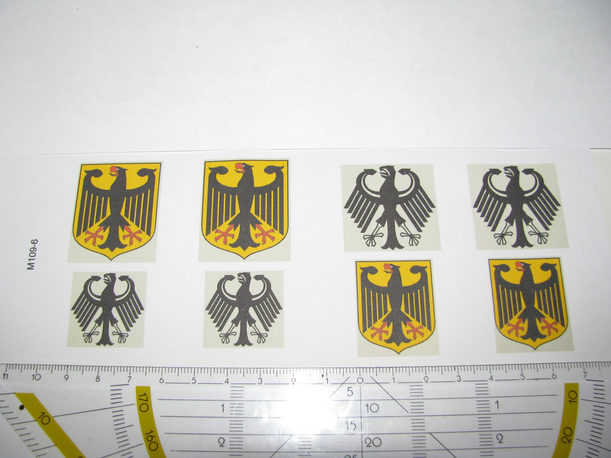 M109-6: BRD Adler. 8 Decals. Max 30x36mm