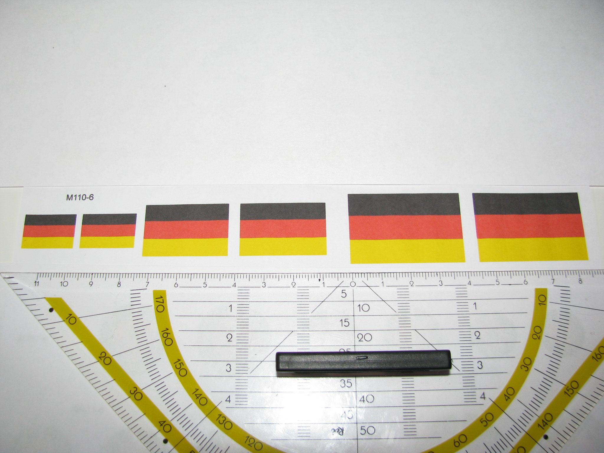 M110-6: BRD Flagge. 12 Decals. Max 40x25mm