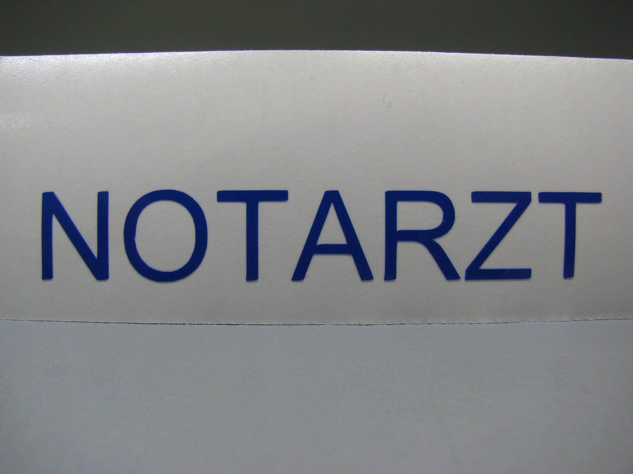 M301a: NOTARZT, z.B. 70x11mm (450er EC145)