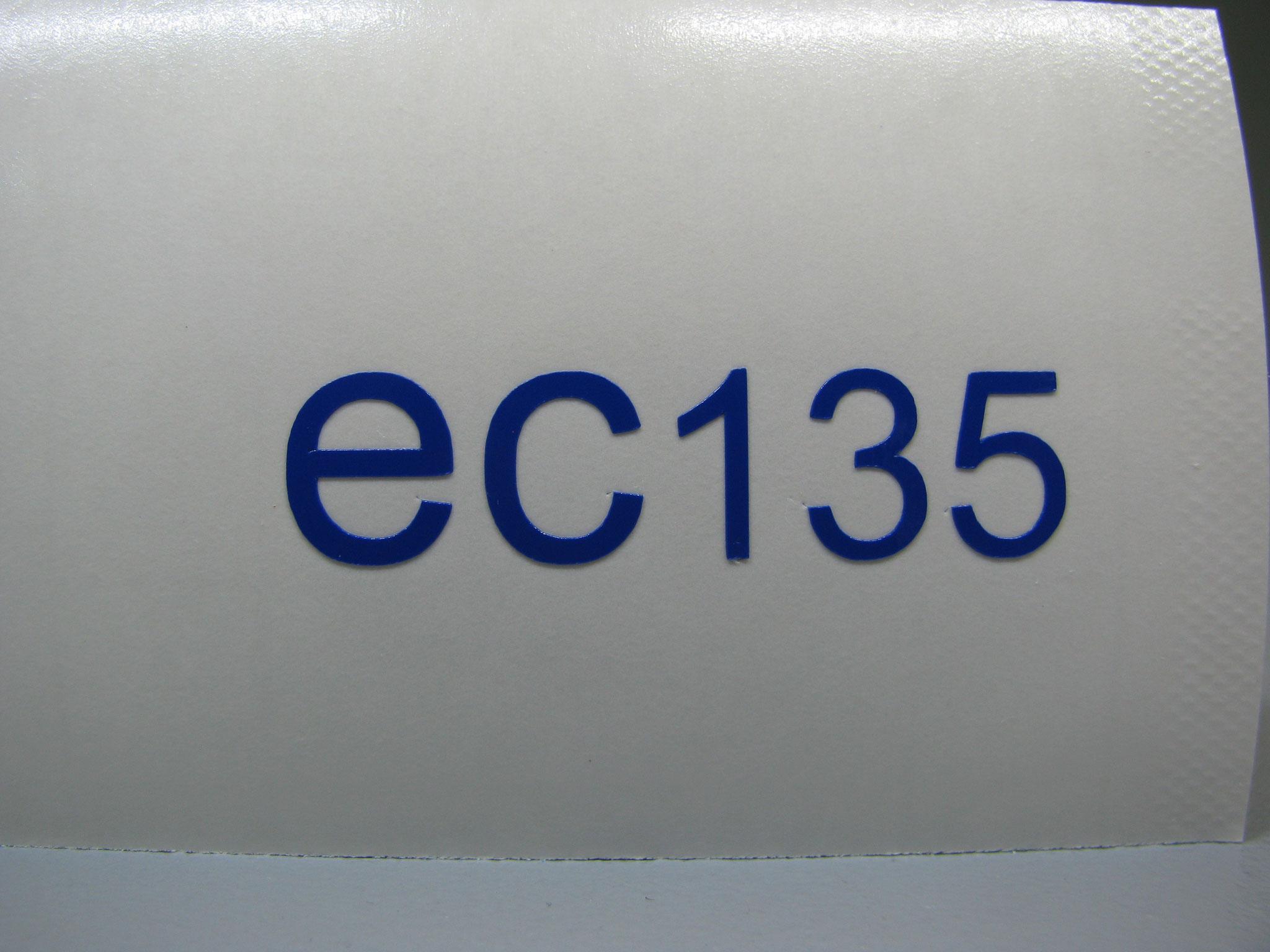 M304: Logo ec135, z.B. 36x9mm