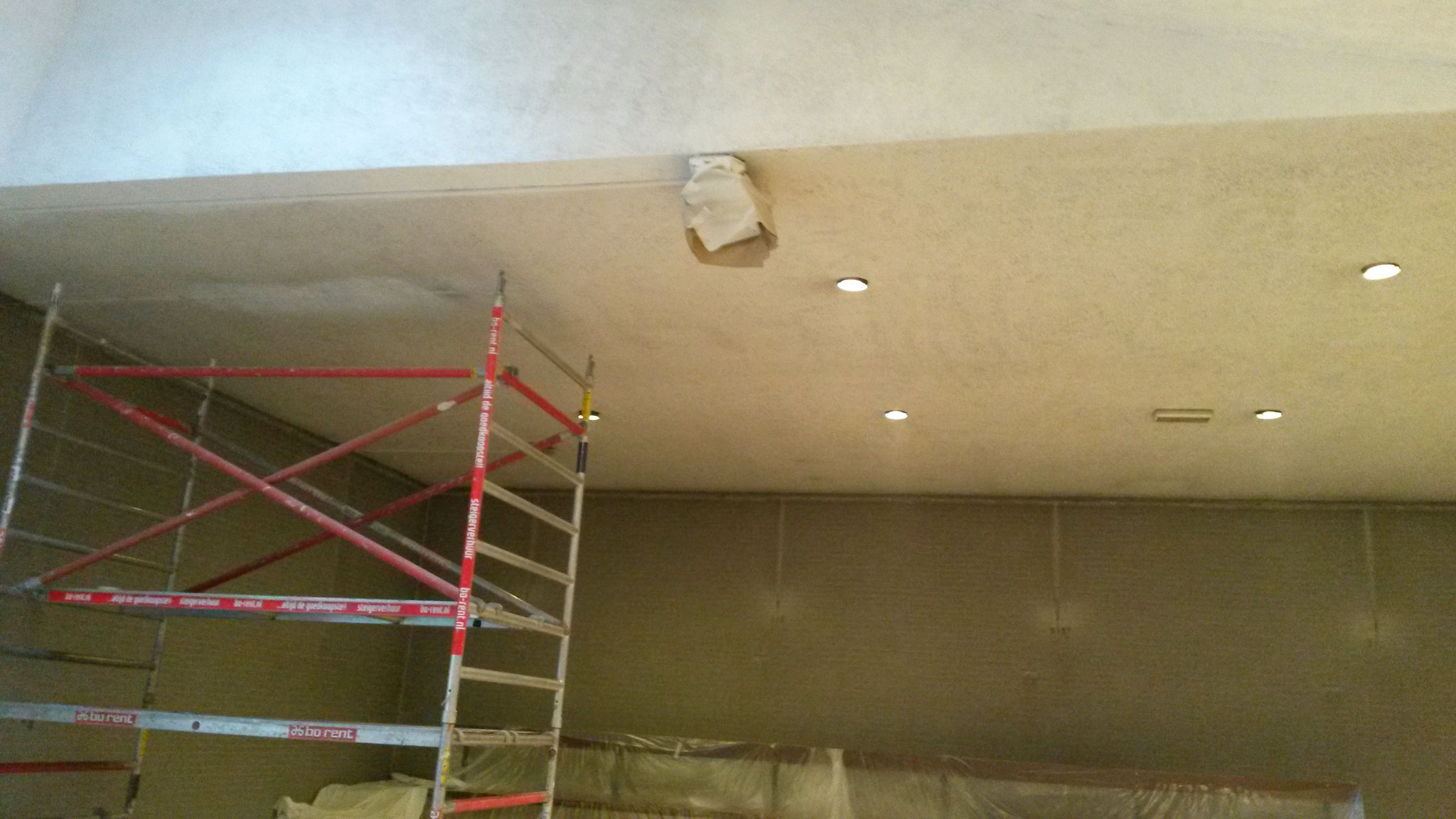 plafond maranathakerk 1x gespoten