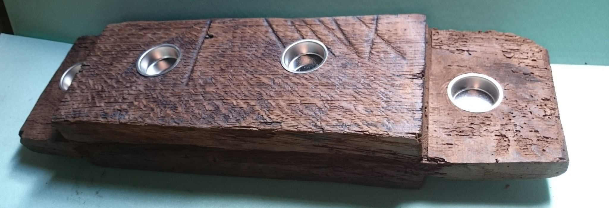 1a-handarbeit Eiche Handarbeit Teelichter Holz