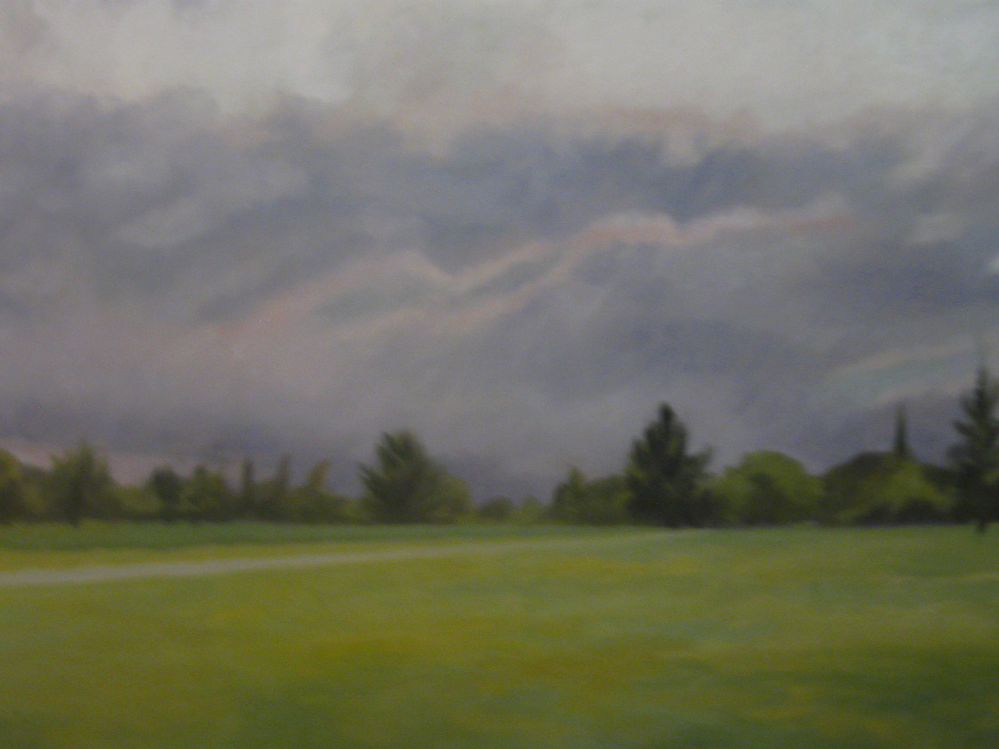 "Oil on canvas. ""The Storm"" 60 x 90 centimeters."
