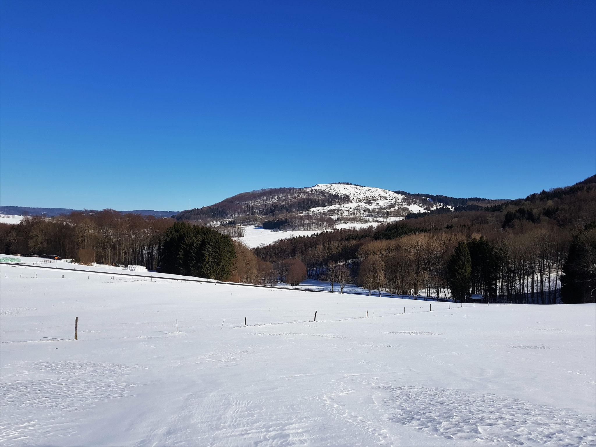 Der Simmelsberg im Winterkleid
