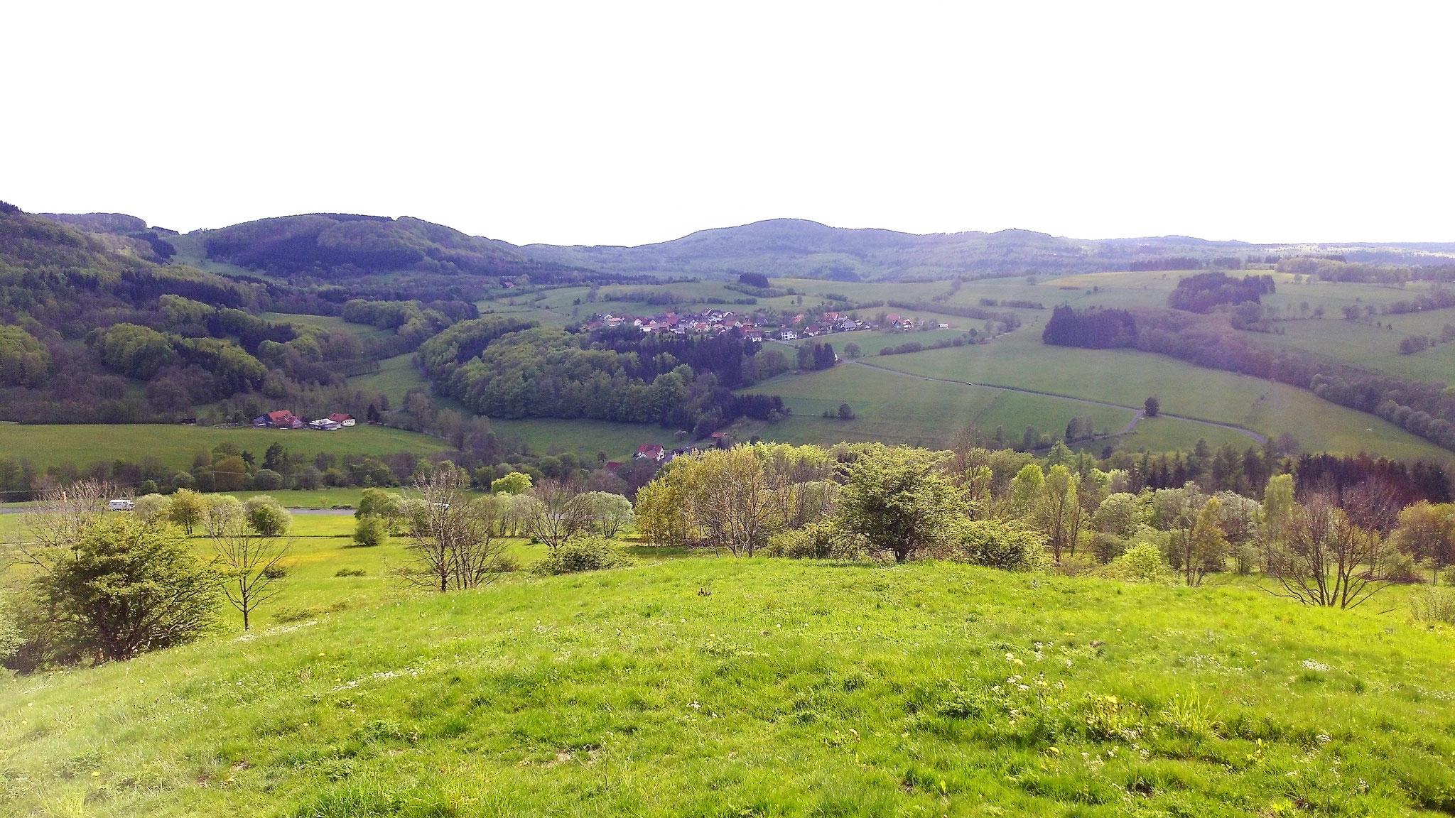 Blick auf Rengersfeld vom Rodenbacher Köpfchen