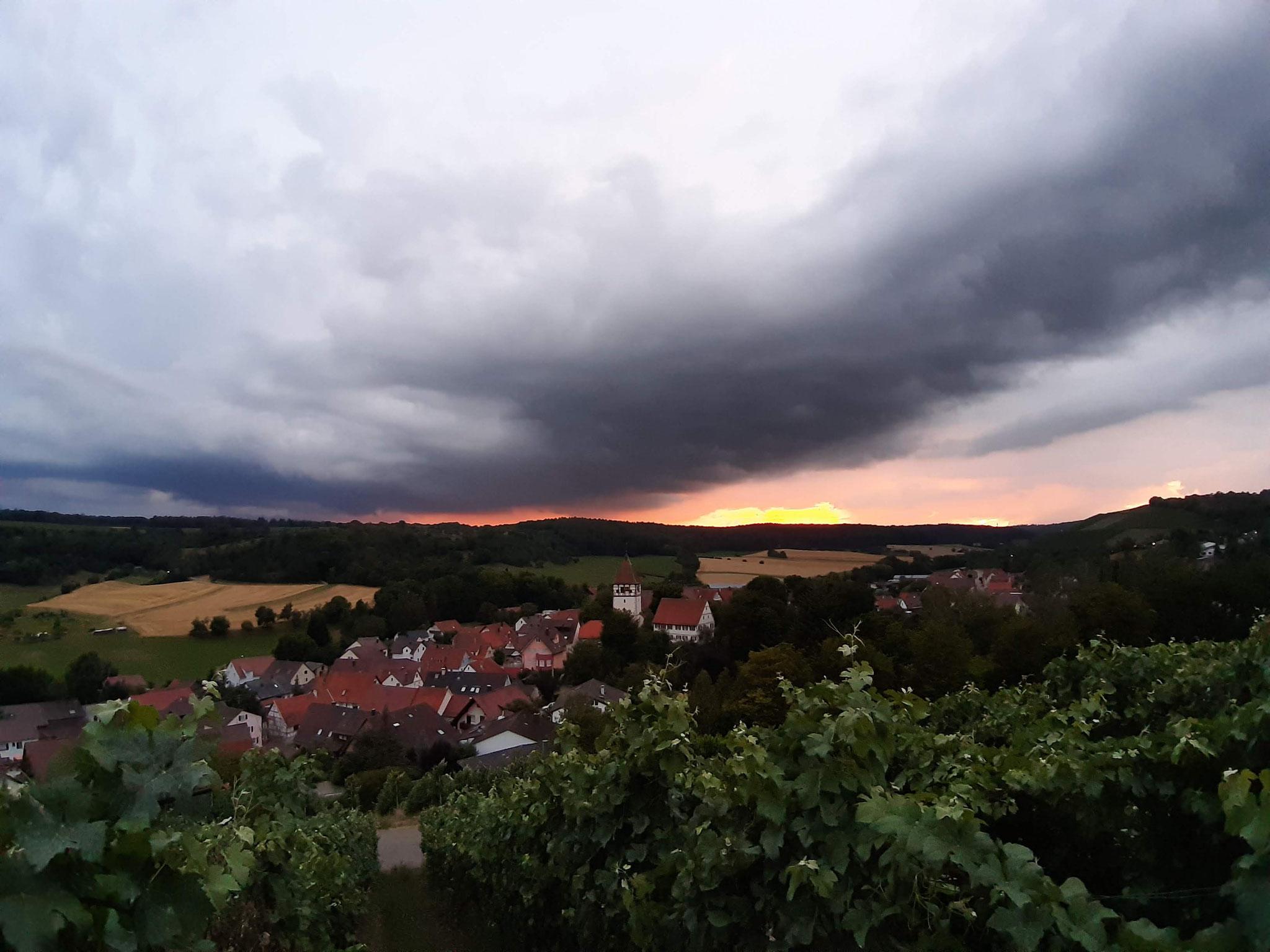 Blick auf den Ort Häfnerhaslach