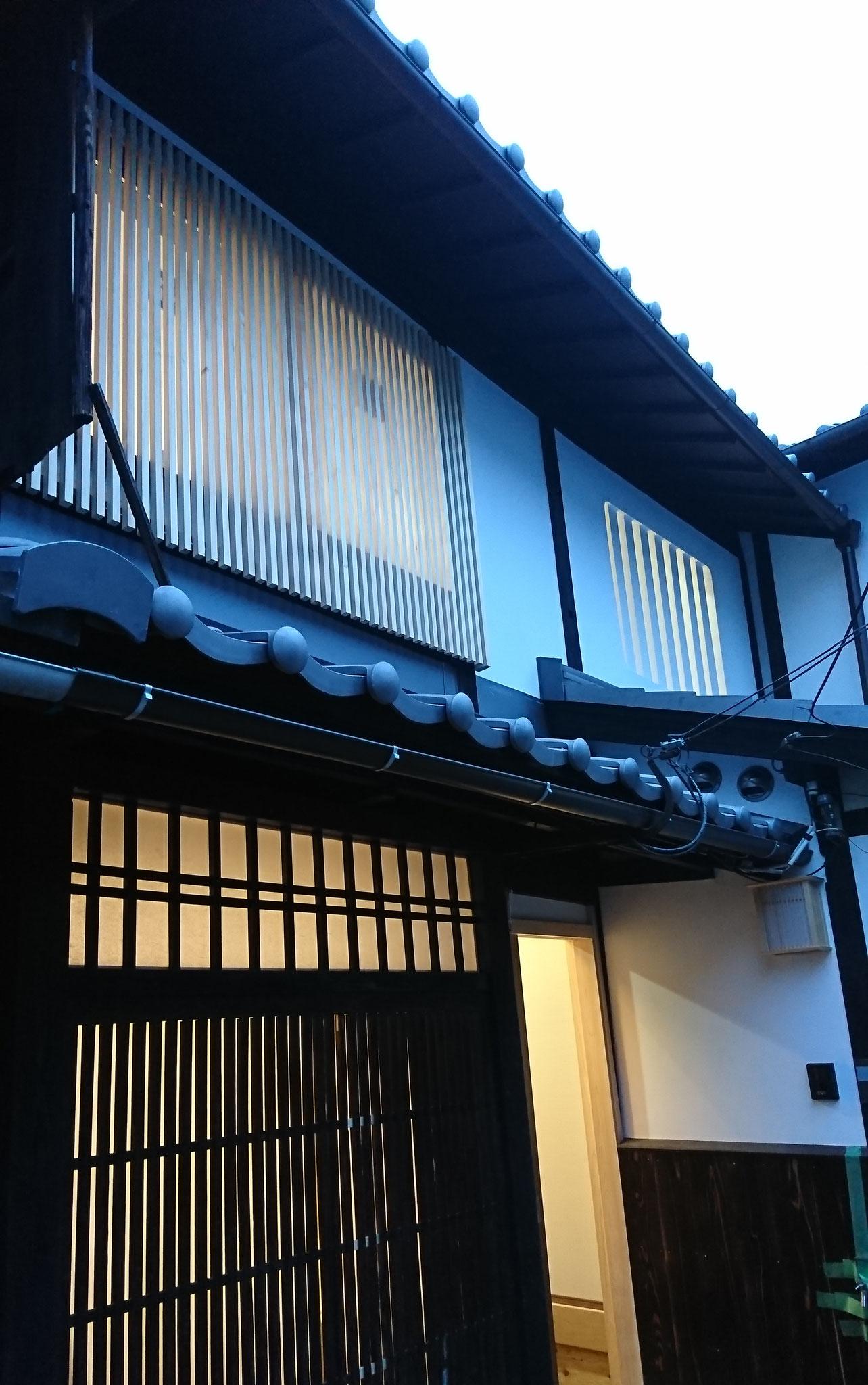 京町家改装工事_外観意匠復元