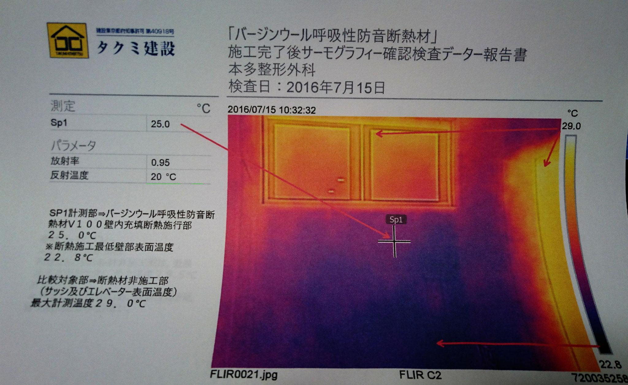バージンウール呼吸性防音断熱材|サーモグラフィー|羊毛断熱材|