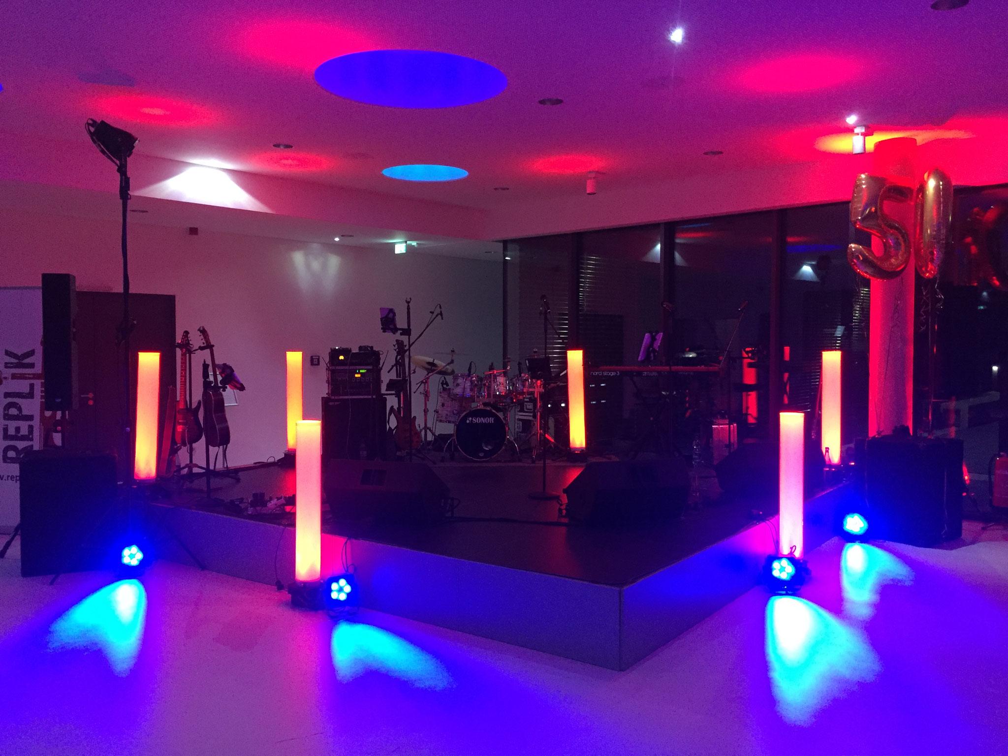 Unternehmensfeier 50 Jahre - Licht- und Tontechnik