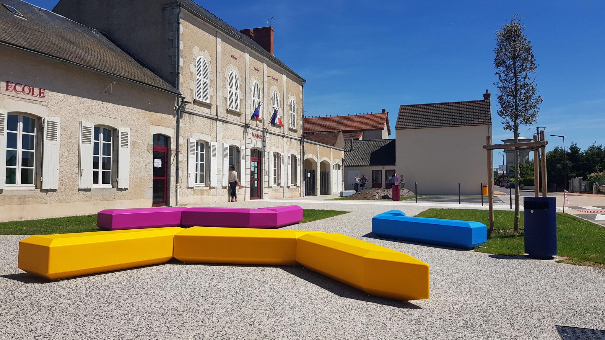Aménagement du parvis de l'école et la mairie Saint Pont