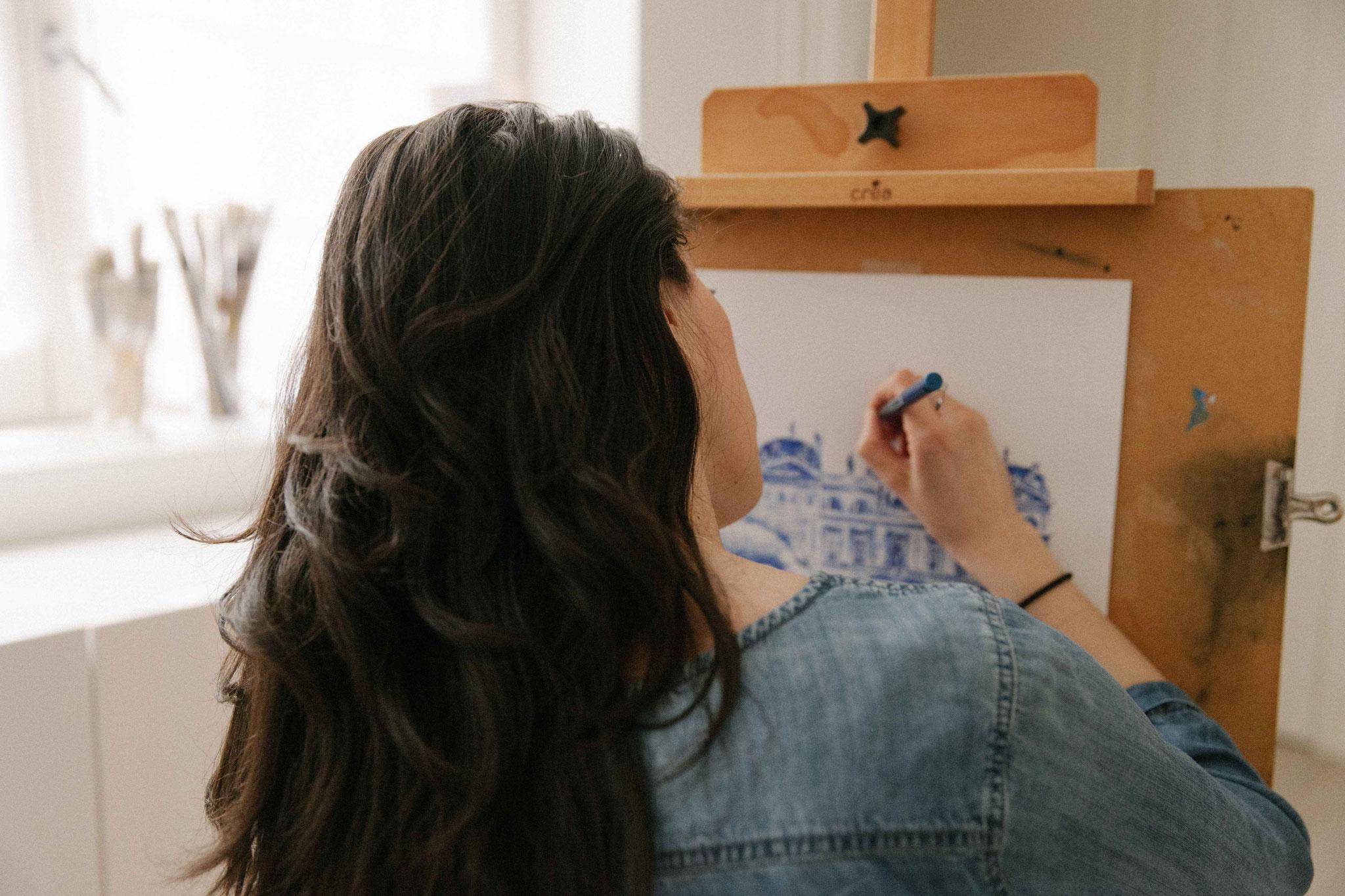 02. Dessin de ville - Audrey Apruzzese - Dessinatrice Lyonnaise Illustratrice