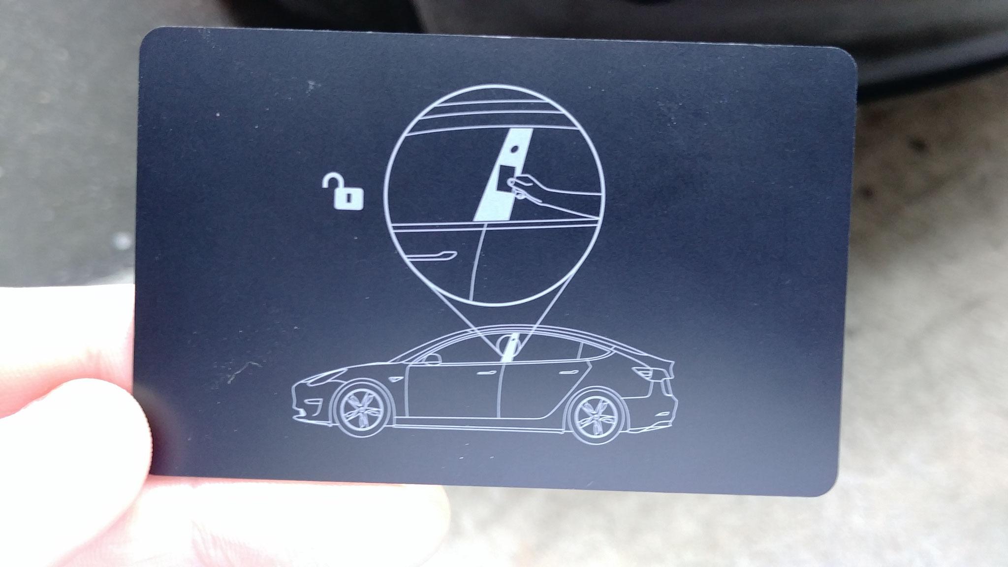 """""""Schlüssel"""" des Tesla Model 3"""