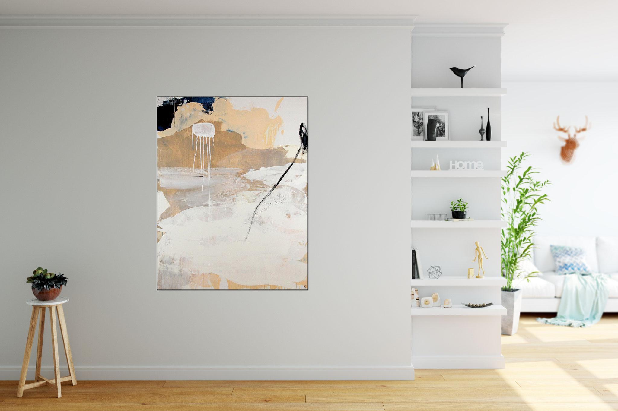 abstraktesweisses Bild im Raum