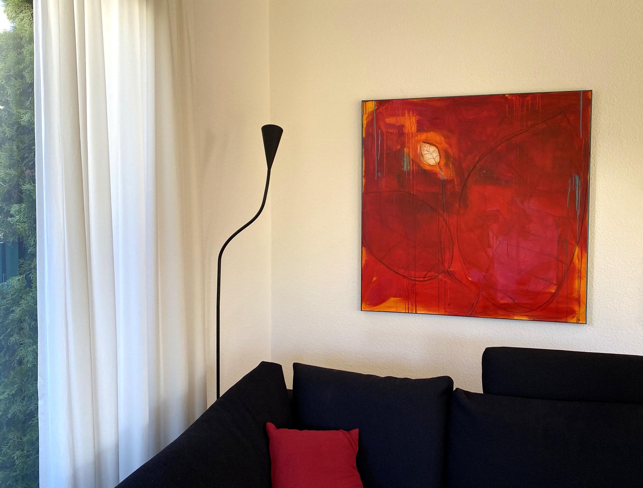 rote Bilder für Wand