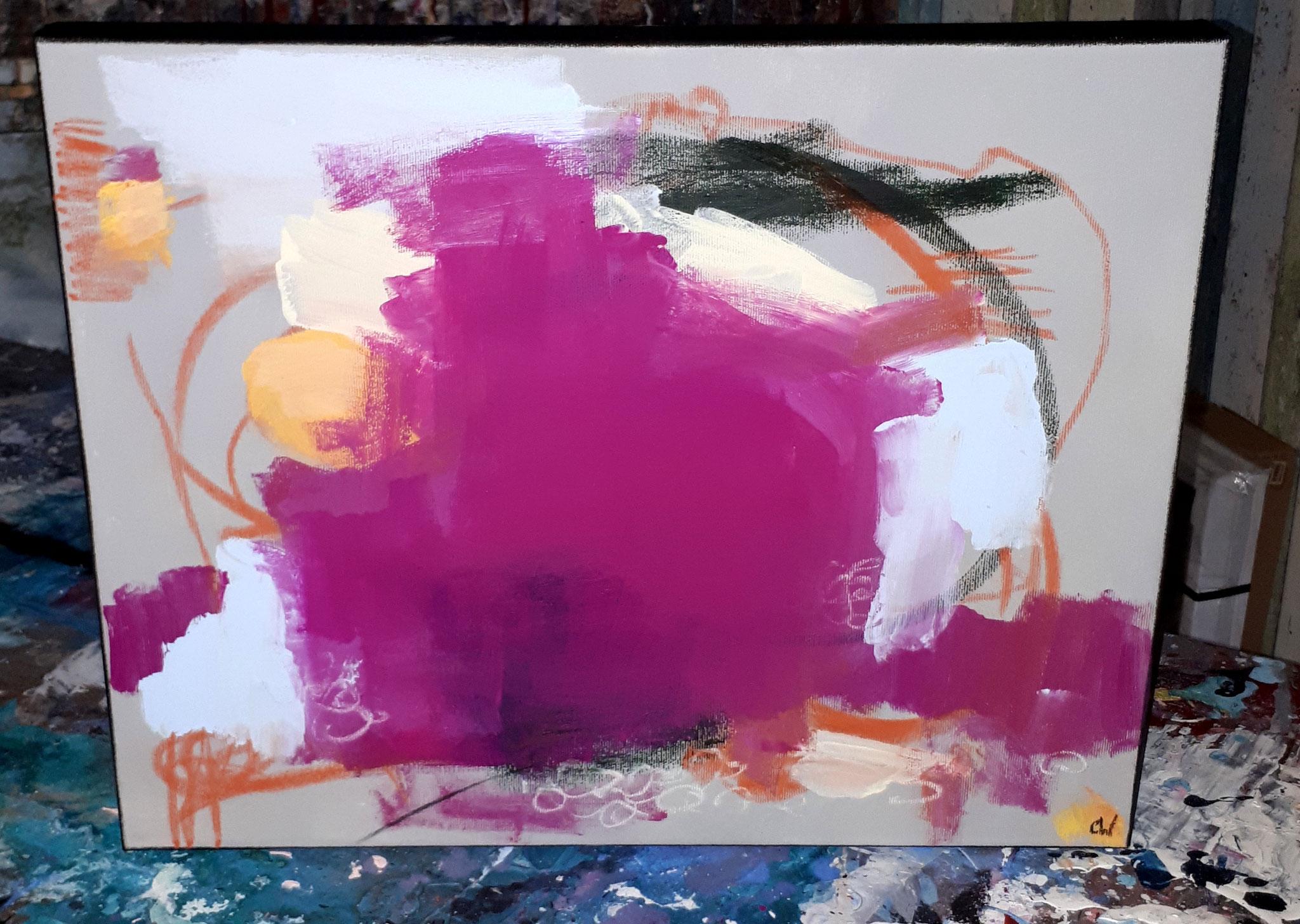 Friedliches Zuhause Bild pink lila grau