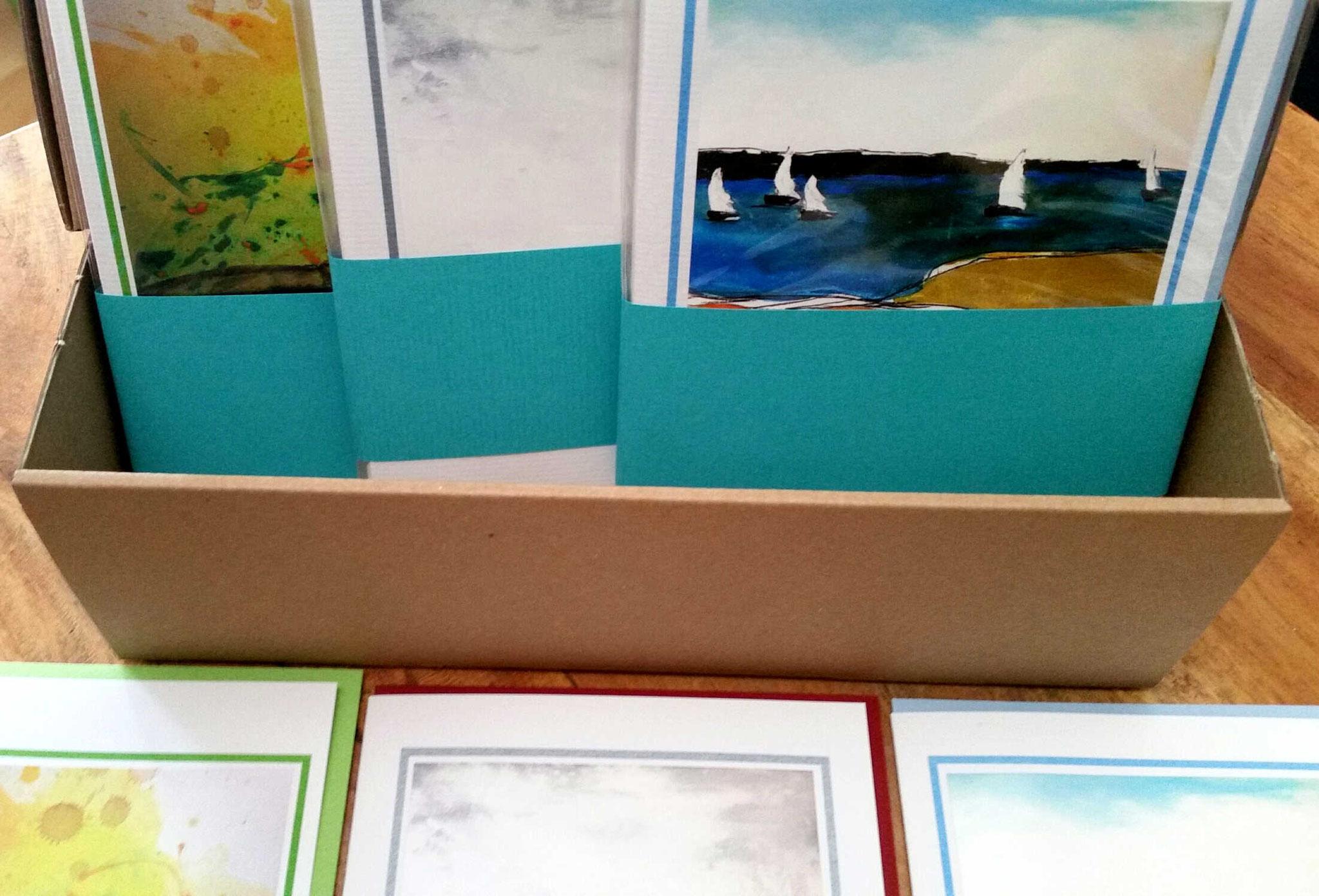 kunstkarte mit Segelboot