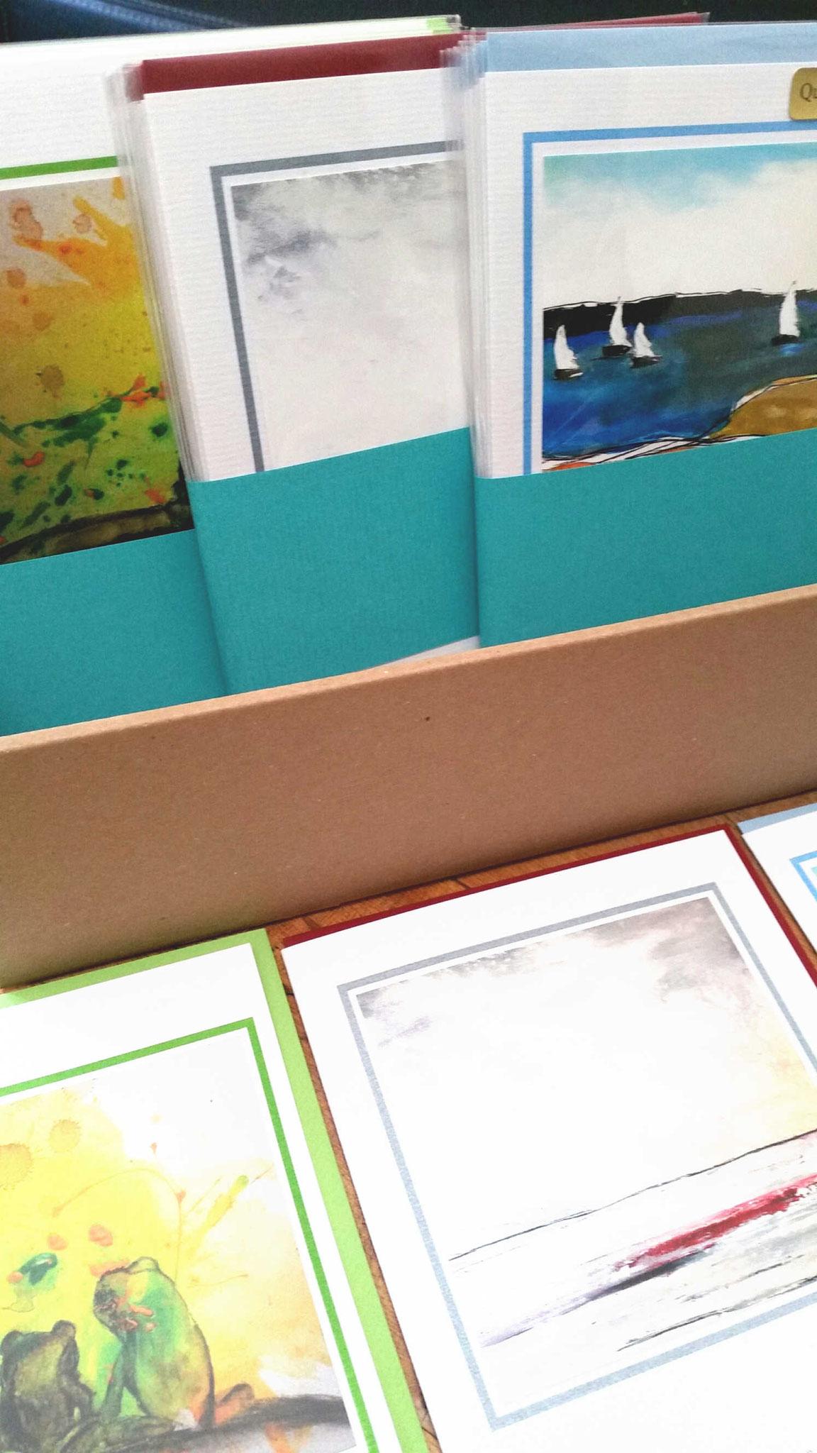 Kunstkarte mit Fröschen