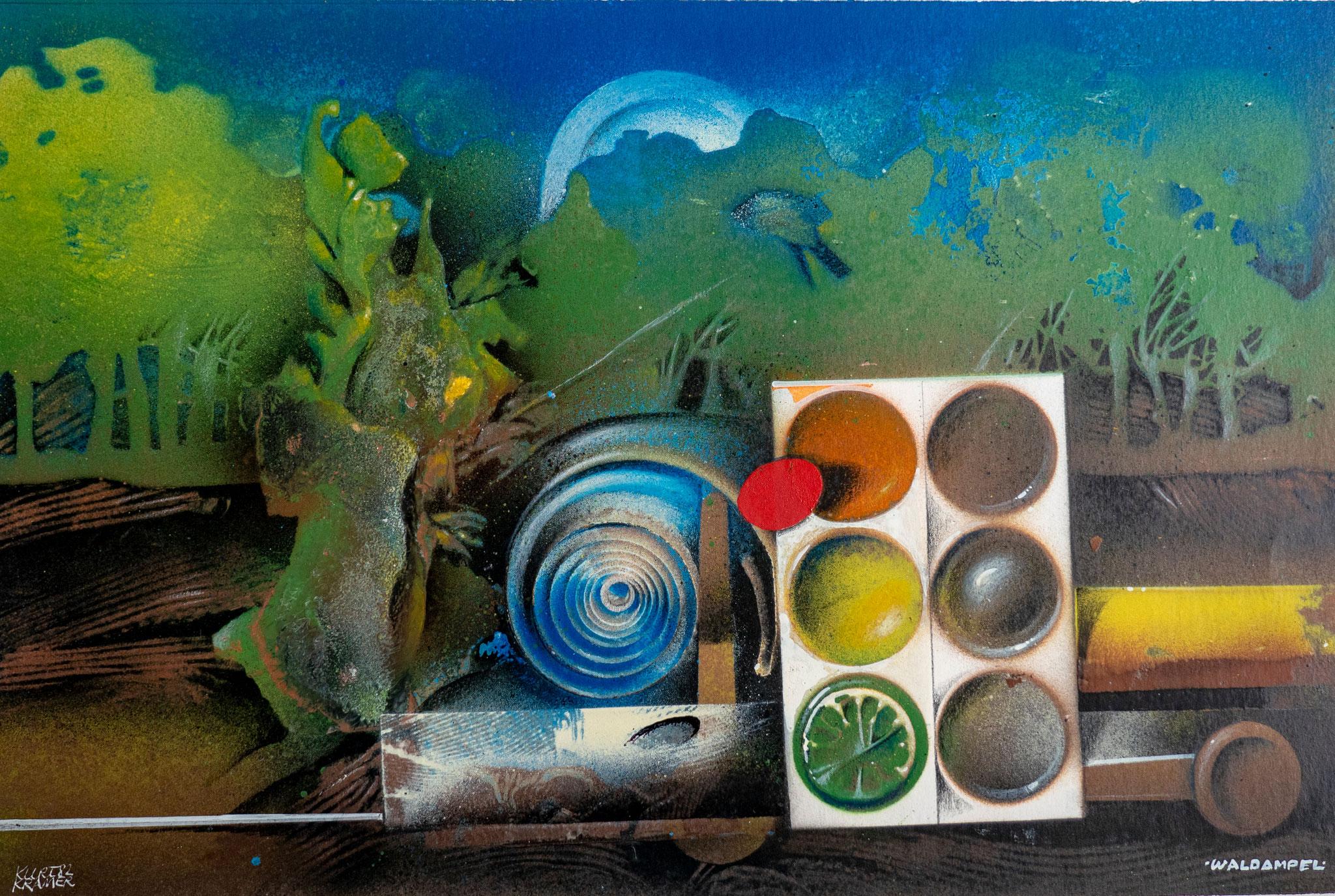 """Waldampel, 1979 (Öl); """"Vanitas""""-Zyklus"""