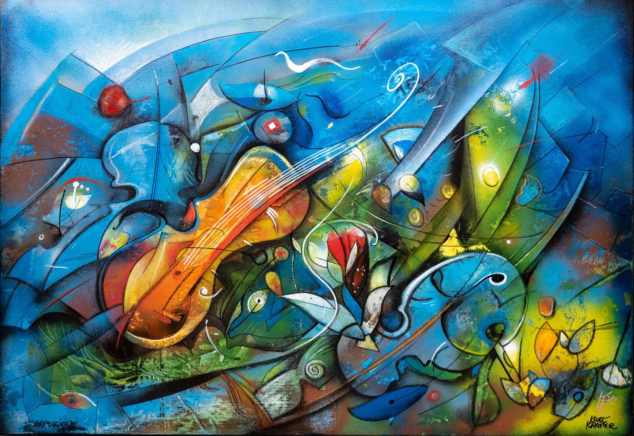 Arpeggione, 1997 (Öl, 90x70cm)