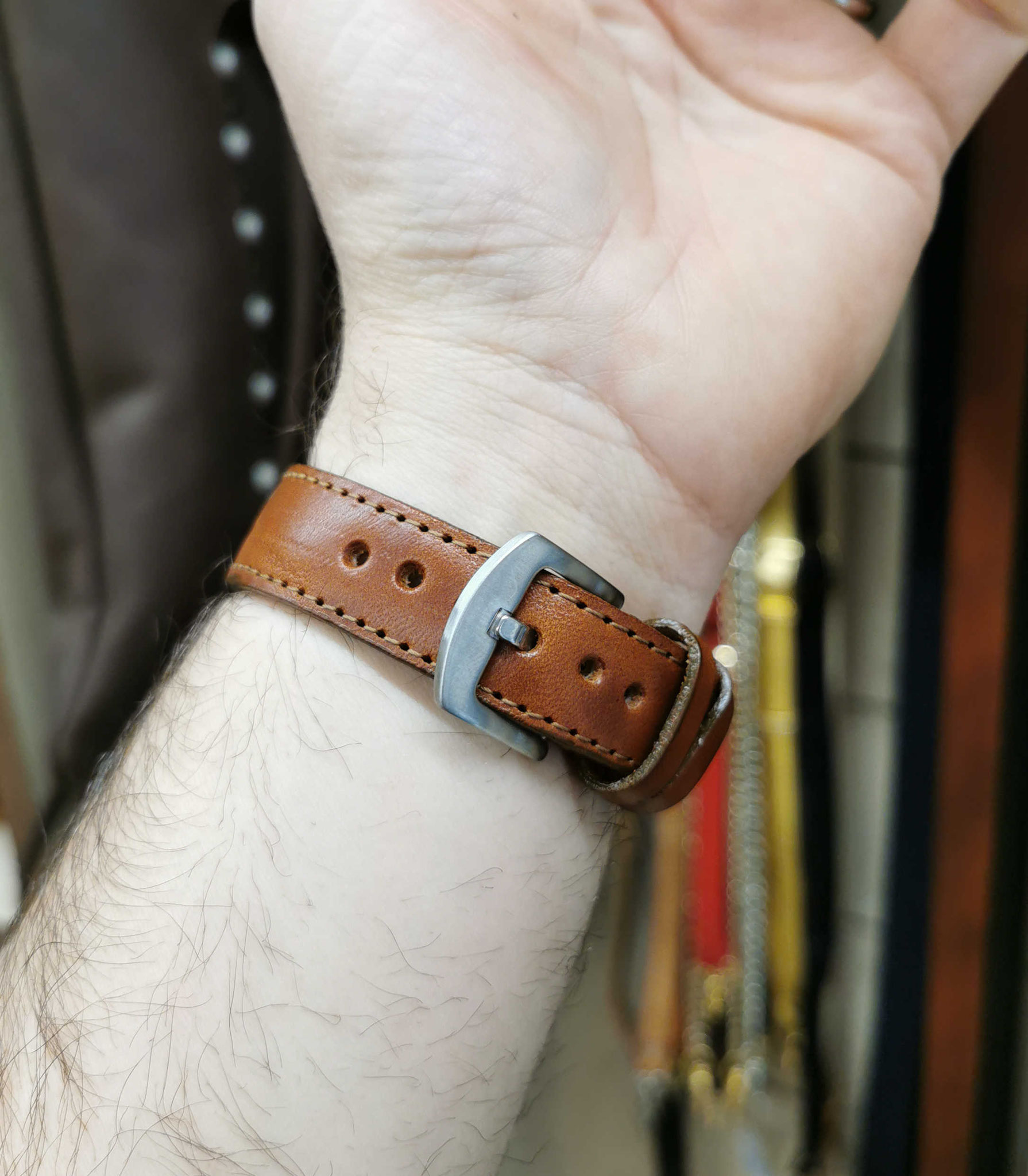 cinturino marrone chiaro