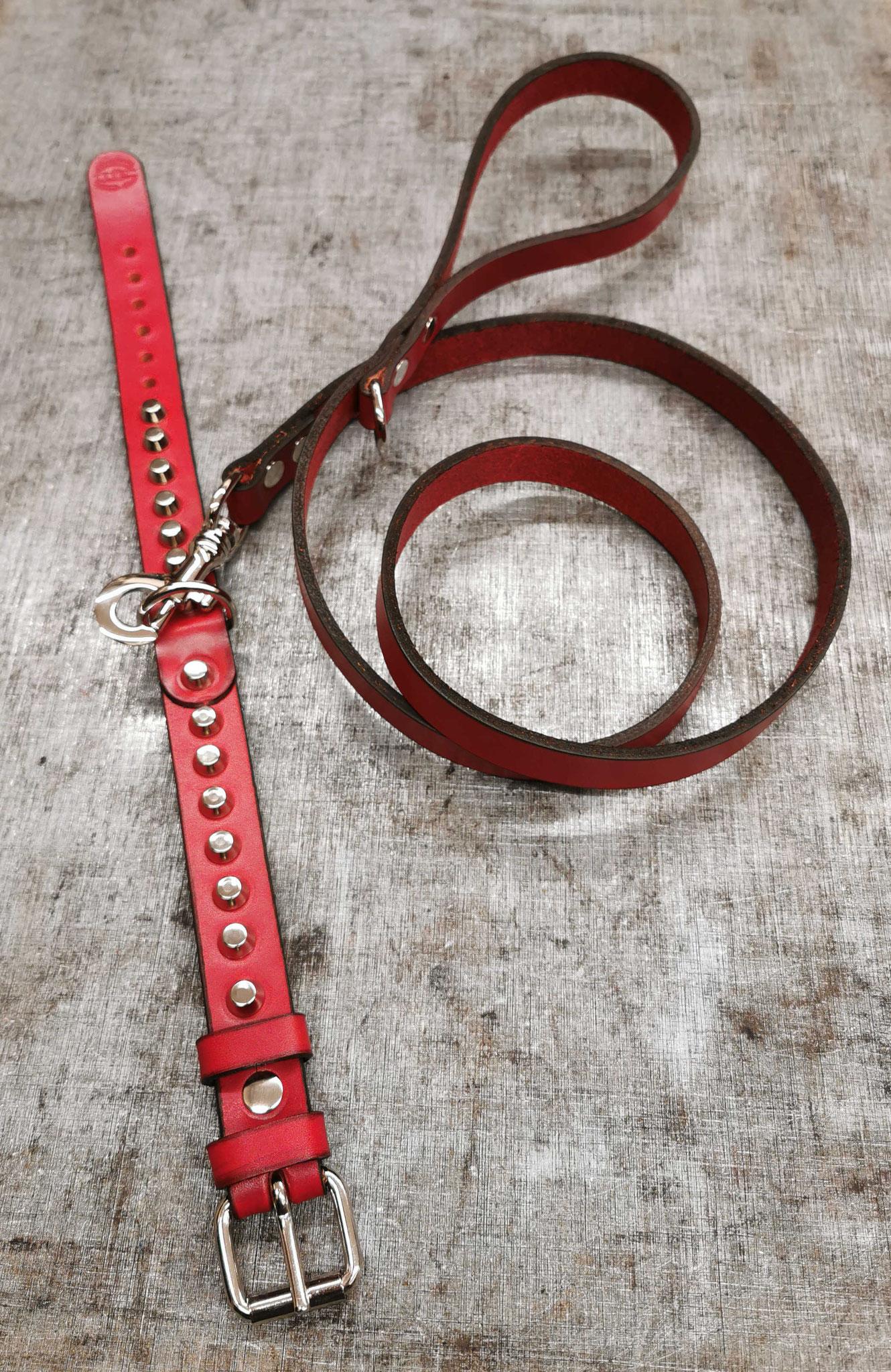 guinzaglio + collare rossi