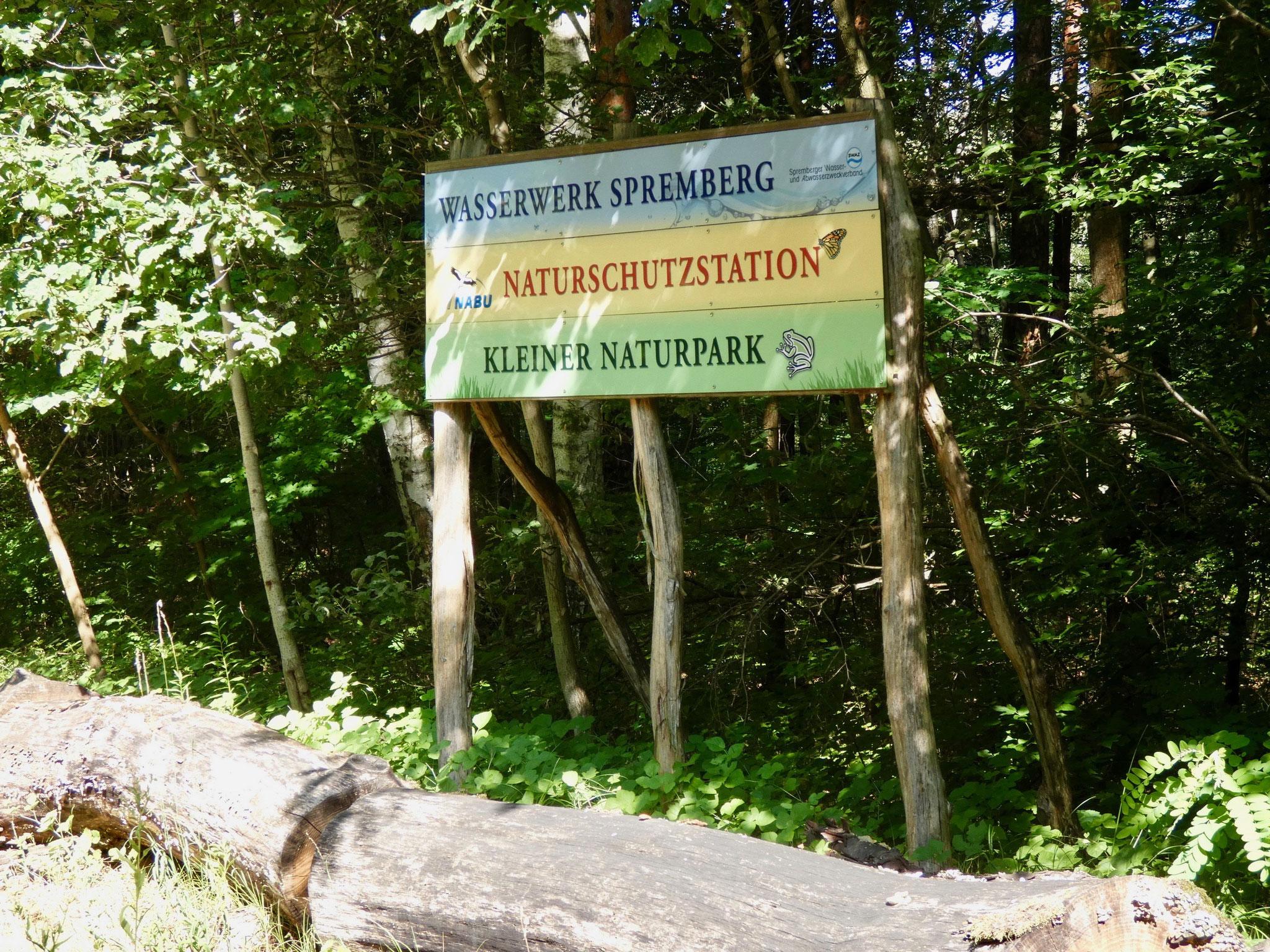 Hinweistafel zum Naturpark Slamener Kuthen