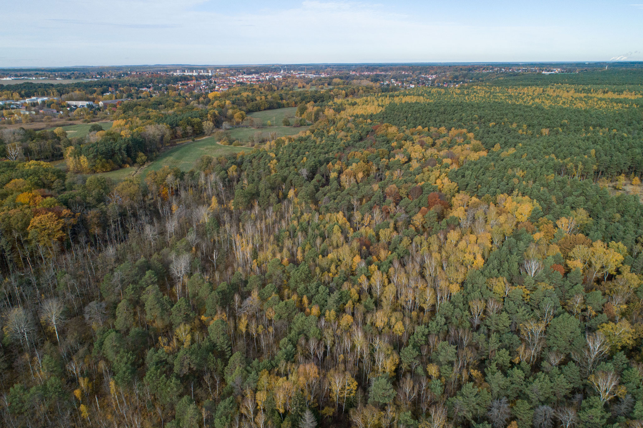 Luftaufnahme vom Naturpark Slamener Kuthen:  Foto von Lennert Piltz
