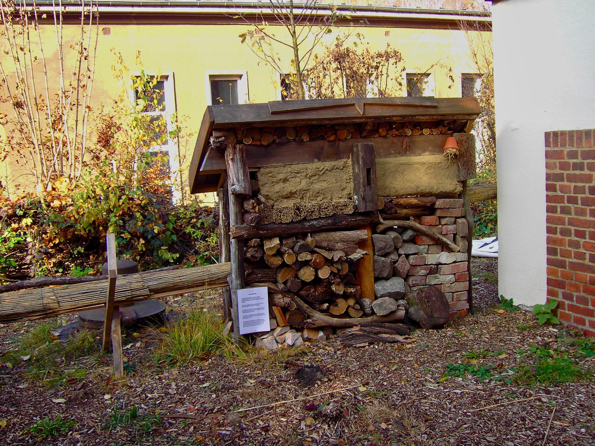 Insektenhotel an der Naturschutzstation