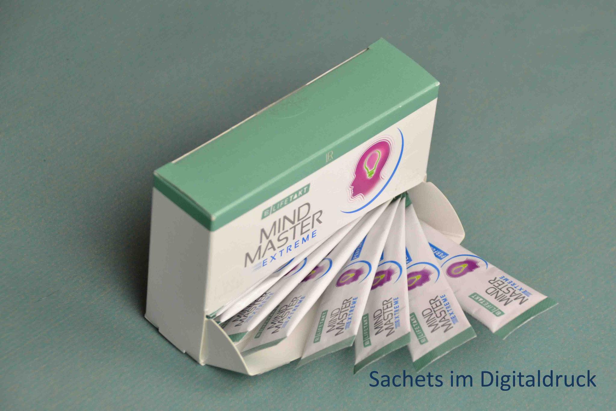 Sachets digitally printed