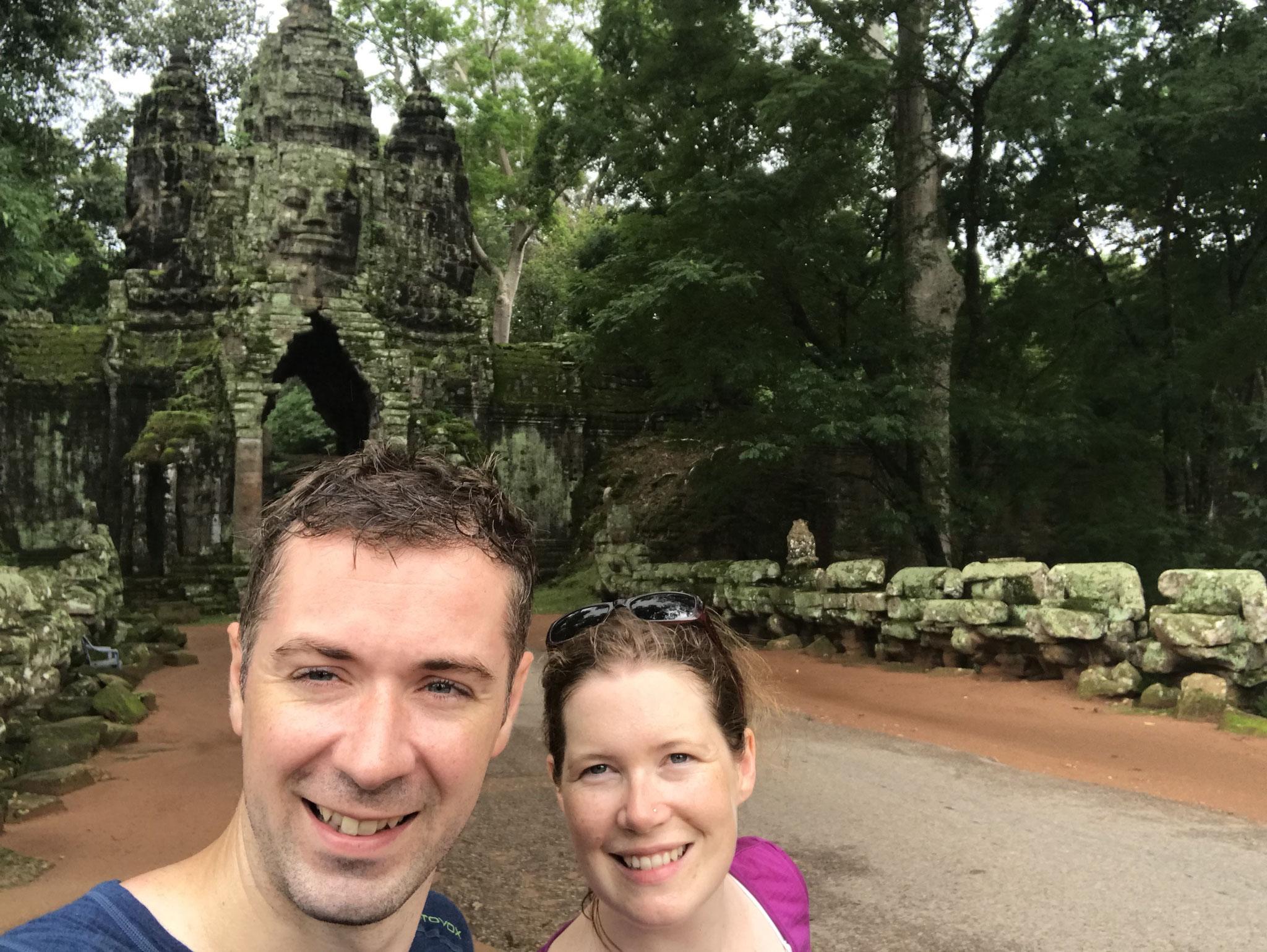 Vor dem Eingang zu Angkor Thom