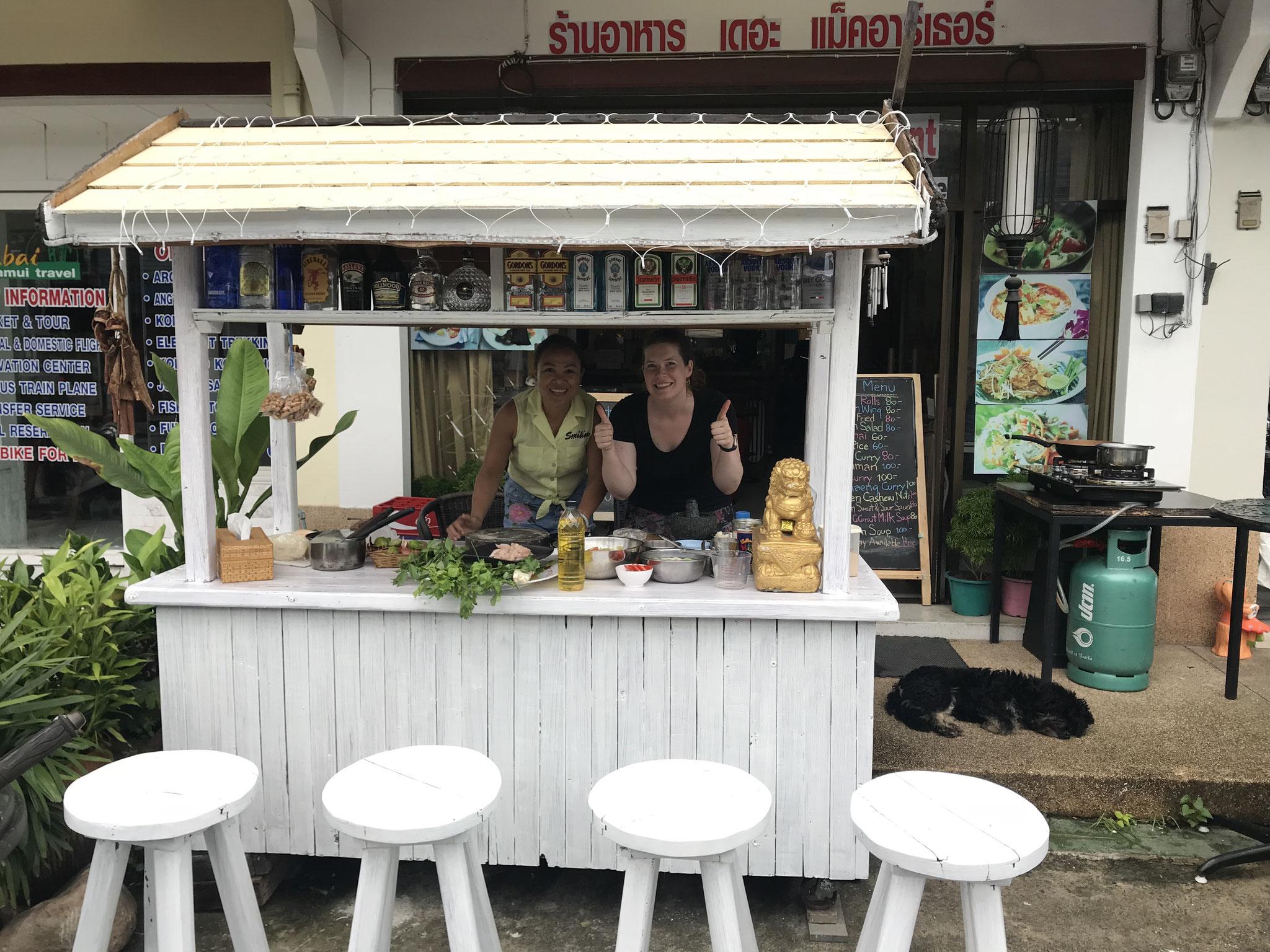 Outdoor-Kochschule von Kookai Sasa-ard in Koh Samui
