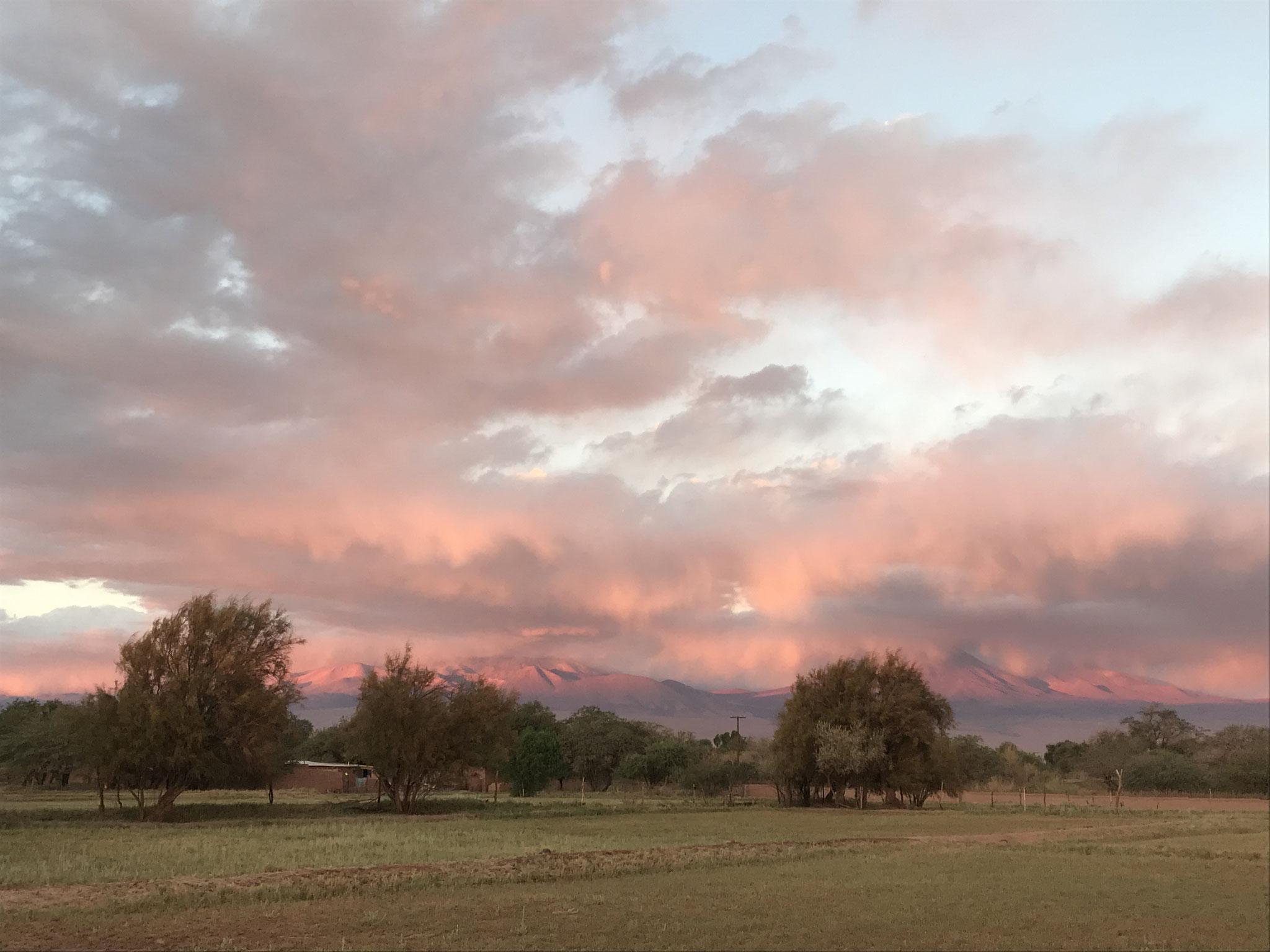 Sonnenuntergang in San Pedro de Atacama