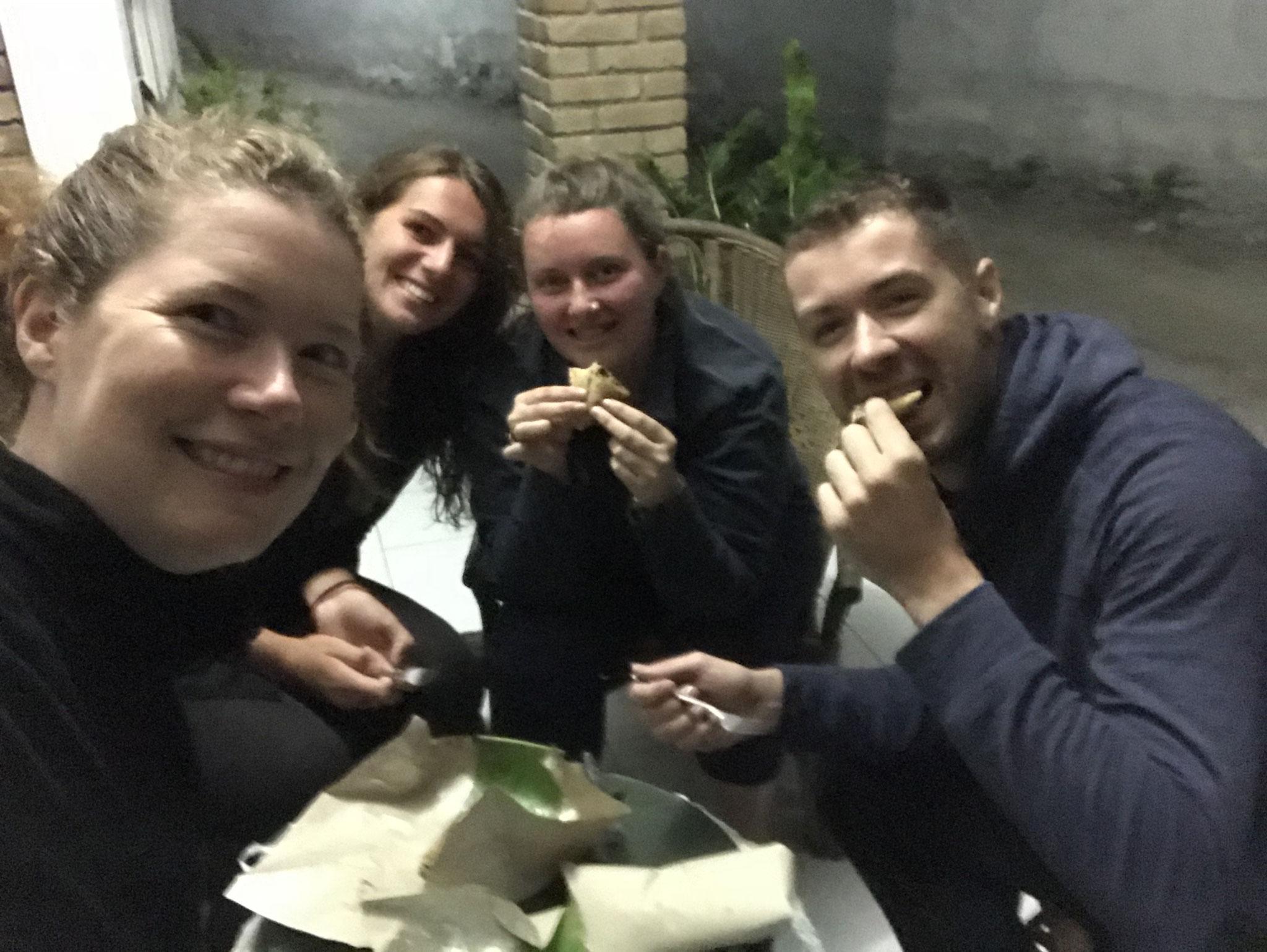 Durian tasting mit Jette und Alice