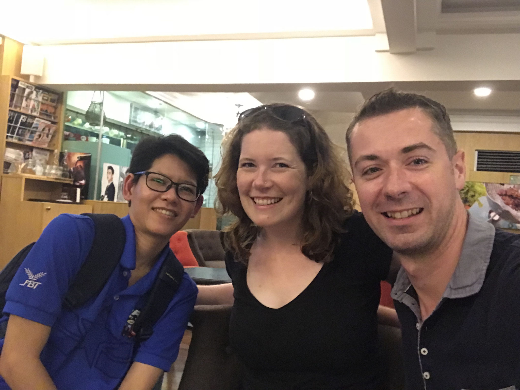 Mit meiner Freundin Nat in Bangkok